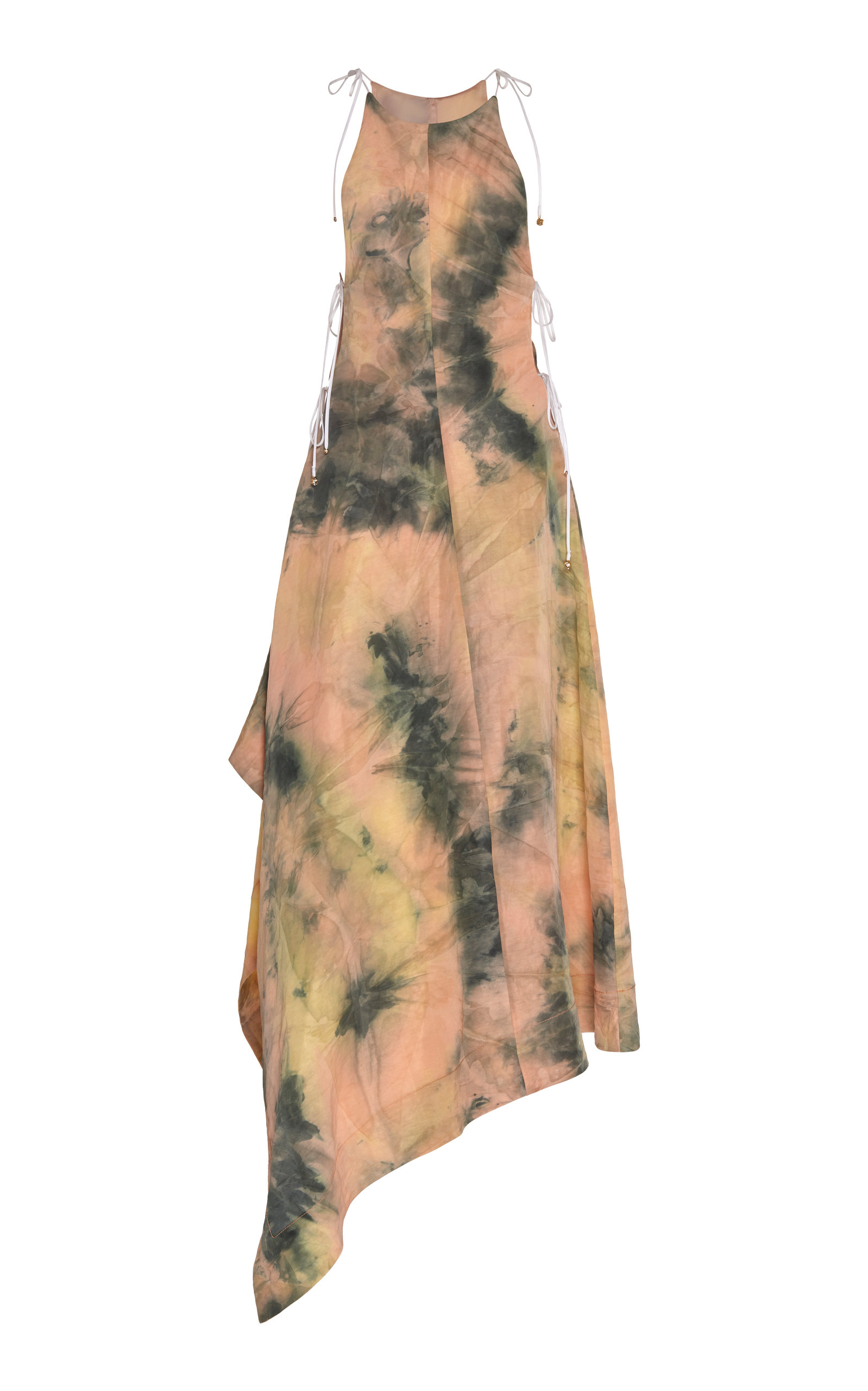 Buy Ellery Galapagos Tie-Dye Linen-Blend Midi Dress online, shop Ellery at the best price