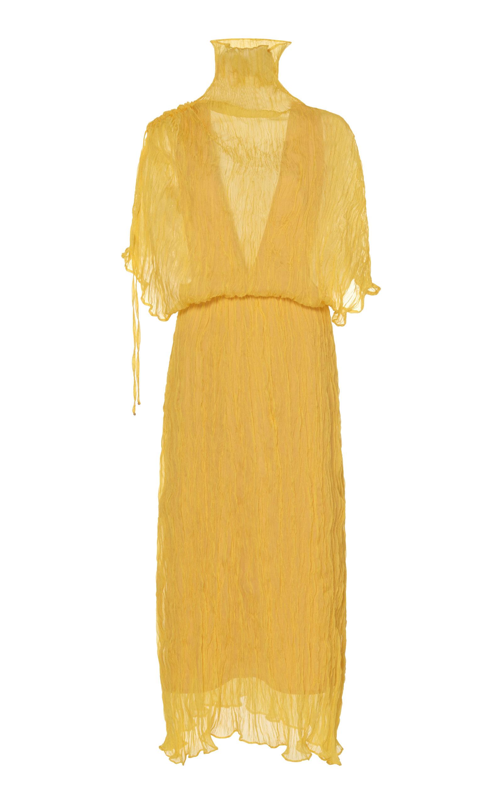 Buy Ellery Santorini Sheer Plissé Midi Dress online, shop Ellery at the best price