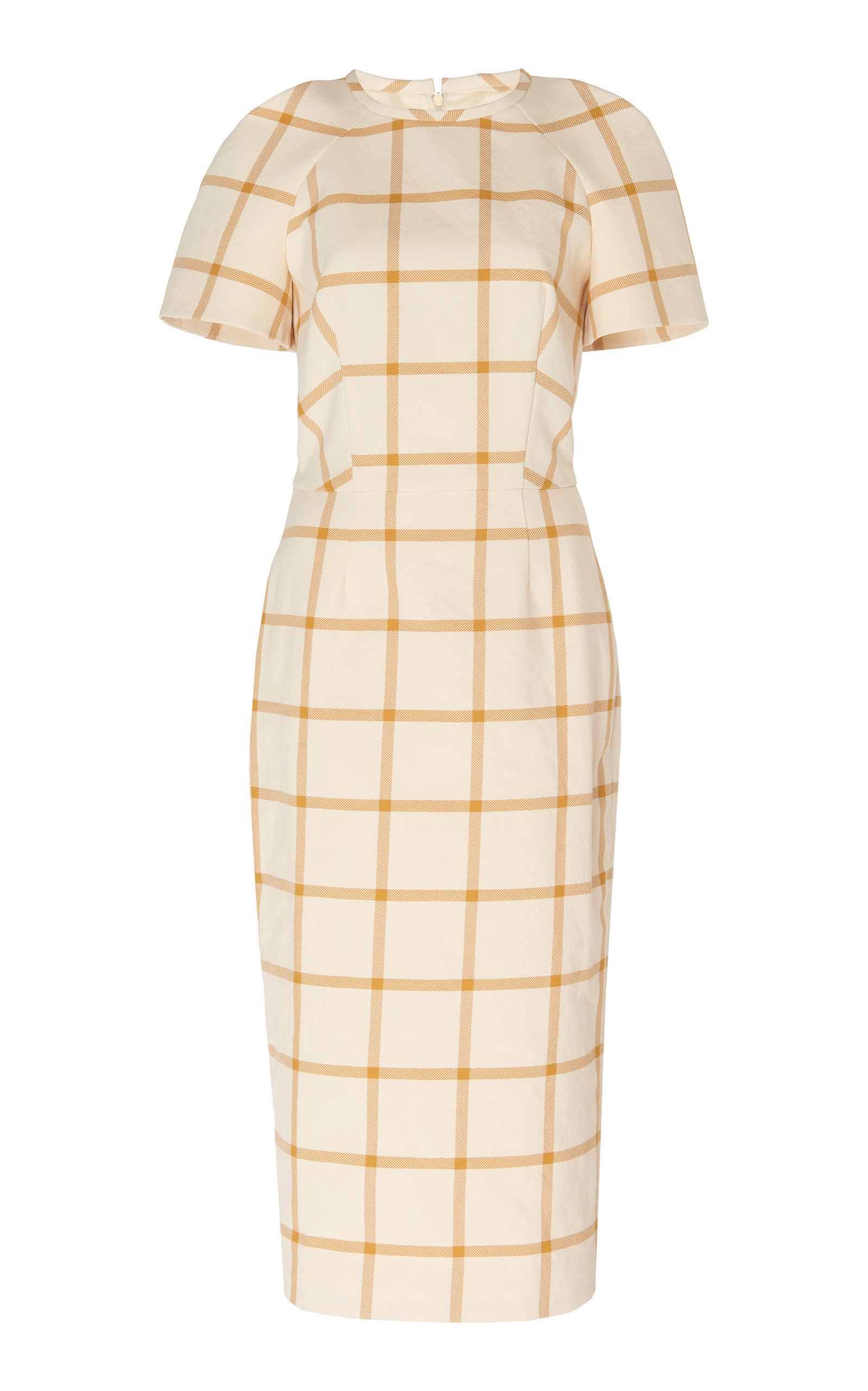 Buy Martin Grant Checked Twill Midi Dress online, shop Martin Grant at the best price