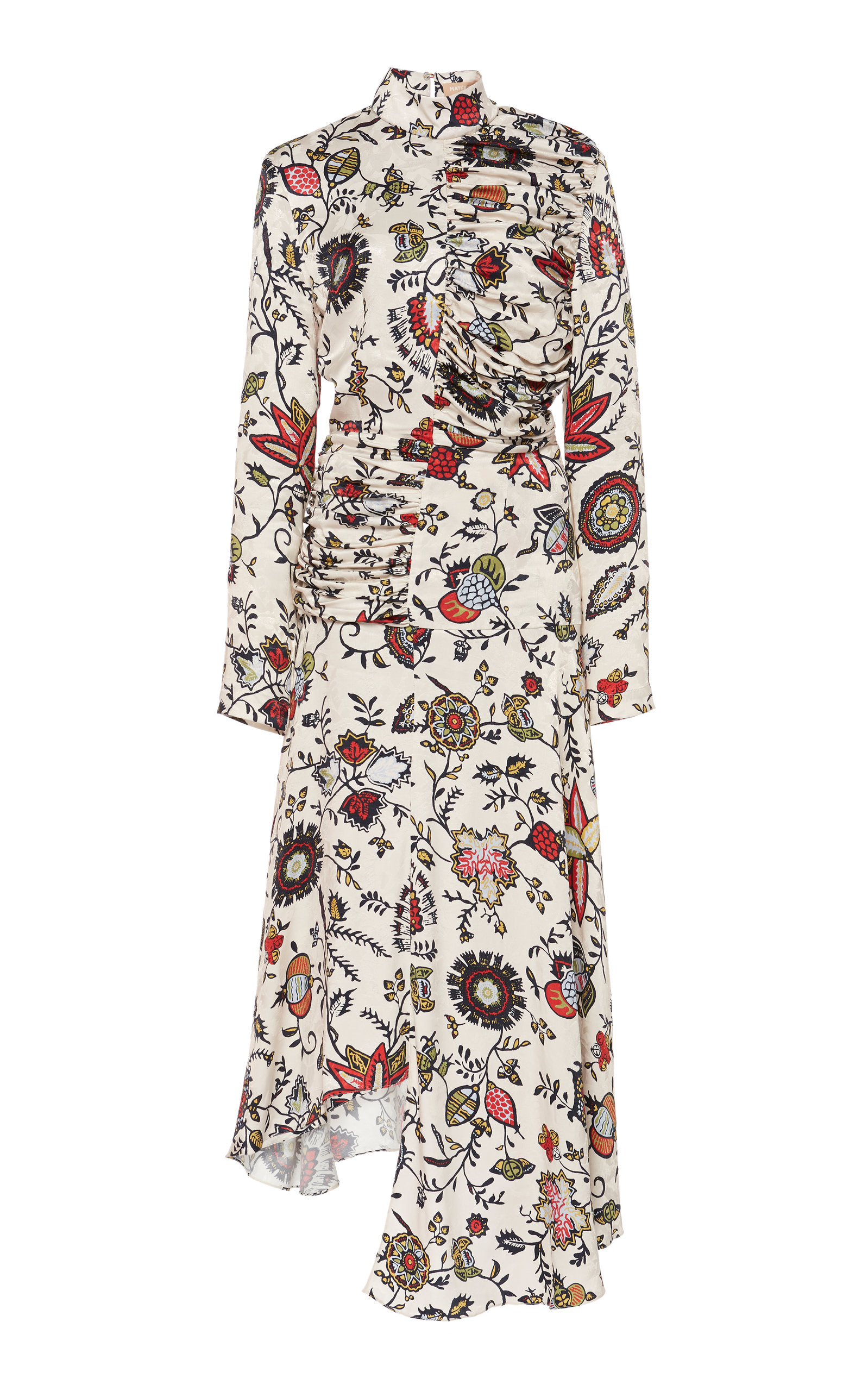 Buy MATÉRIEL Floral-Print Cupro Turtleneck Dress online, shop MATÉRIEL at the best price