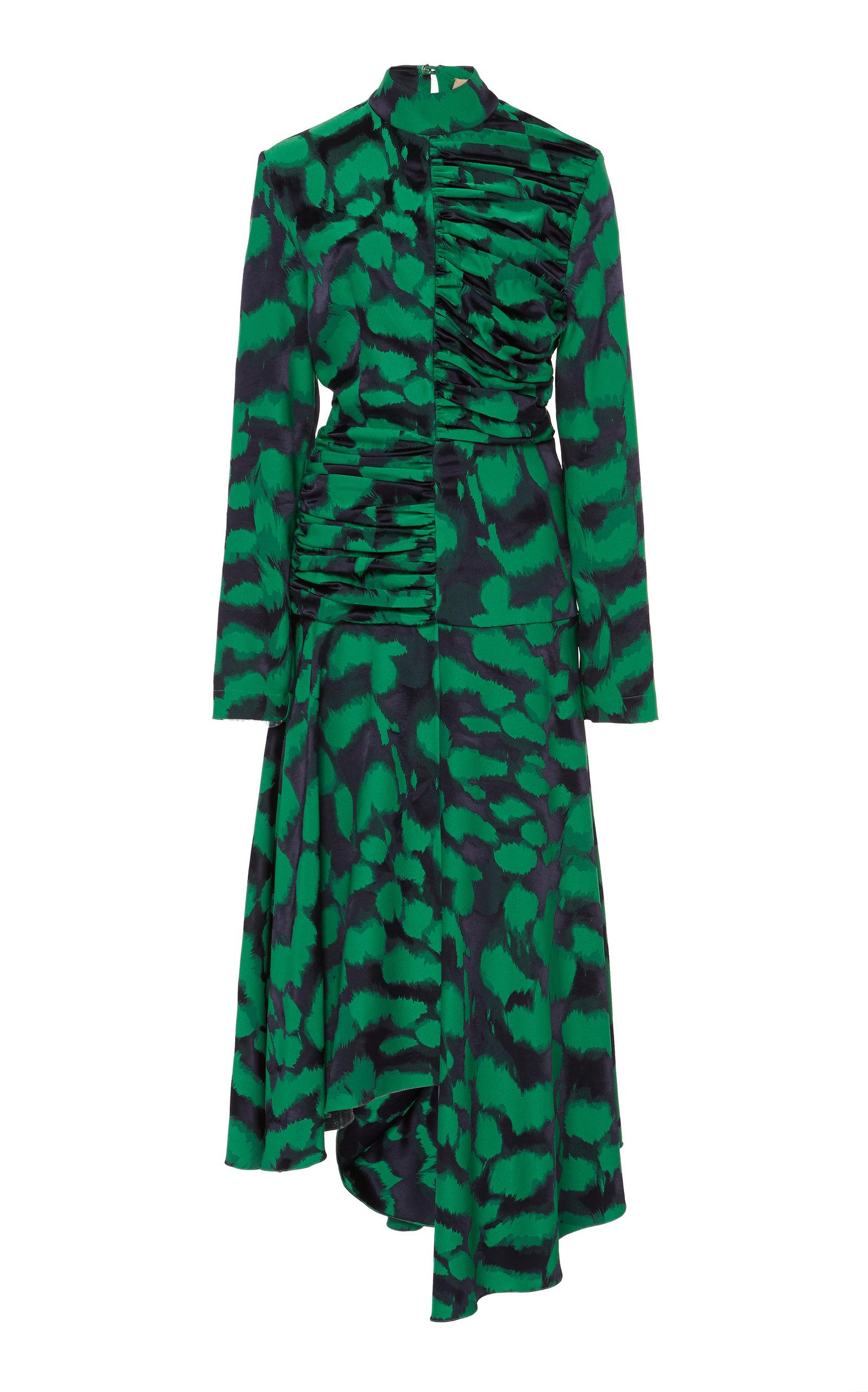 Buy MATÉRIEL Printed Asymmetrical Chiffon Midi Dress online, shop MATÉRIEL at the best price