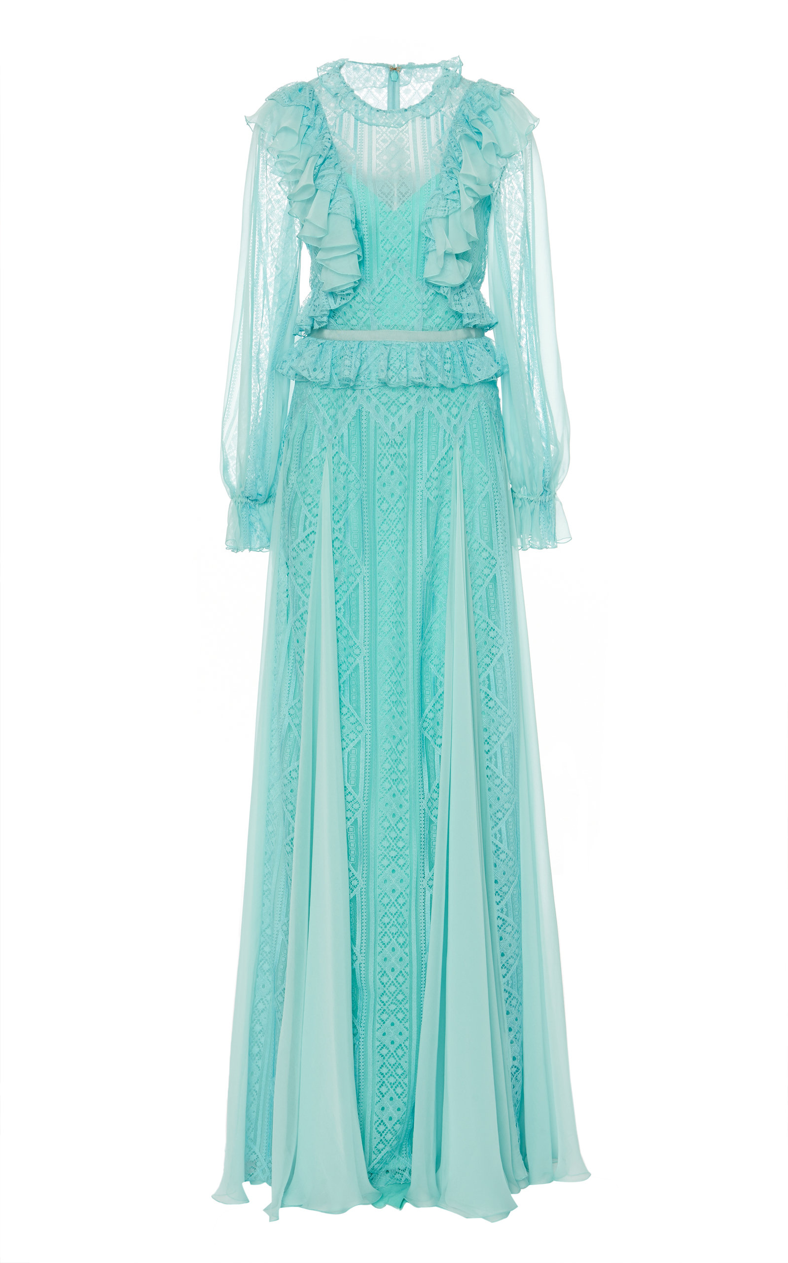 Buy Zuhair Murad Andalusia Ruffle-Trimmed Tulle Gown online, shop Zuhair Murad at the best price
