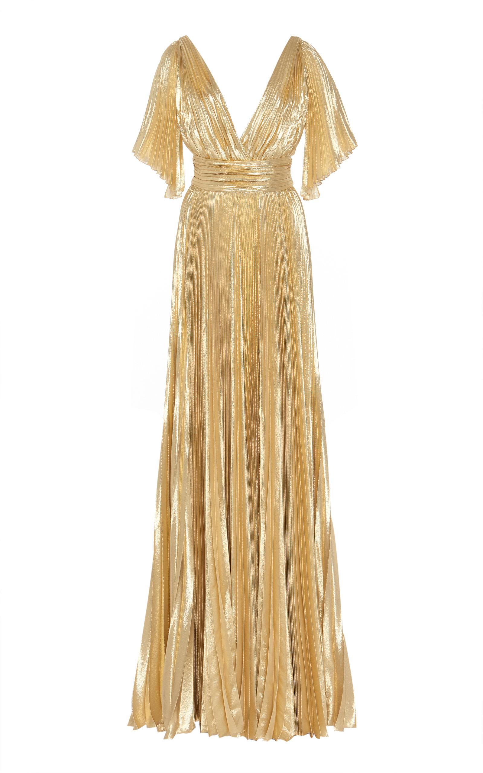 Buy Zuhair Murad Azdorado Plissé Silk-Blend Gown online, shop Zuhair Murad at the best price