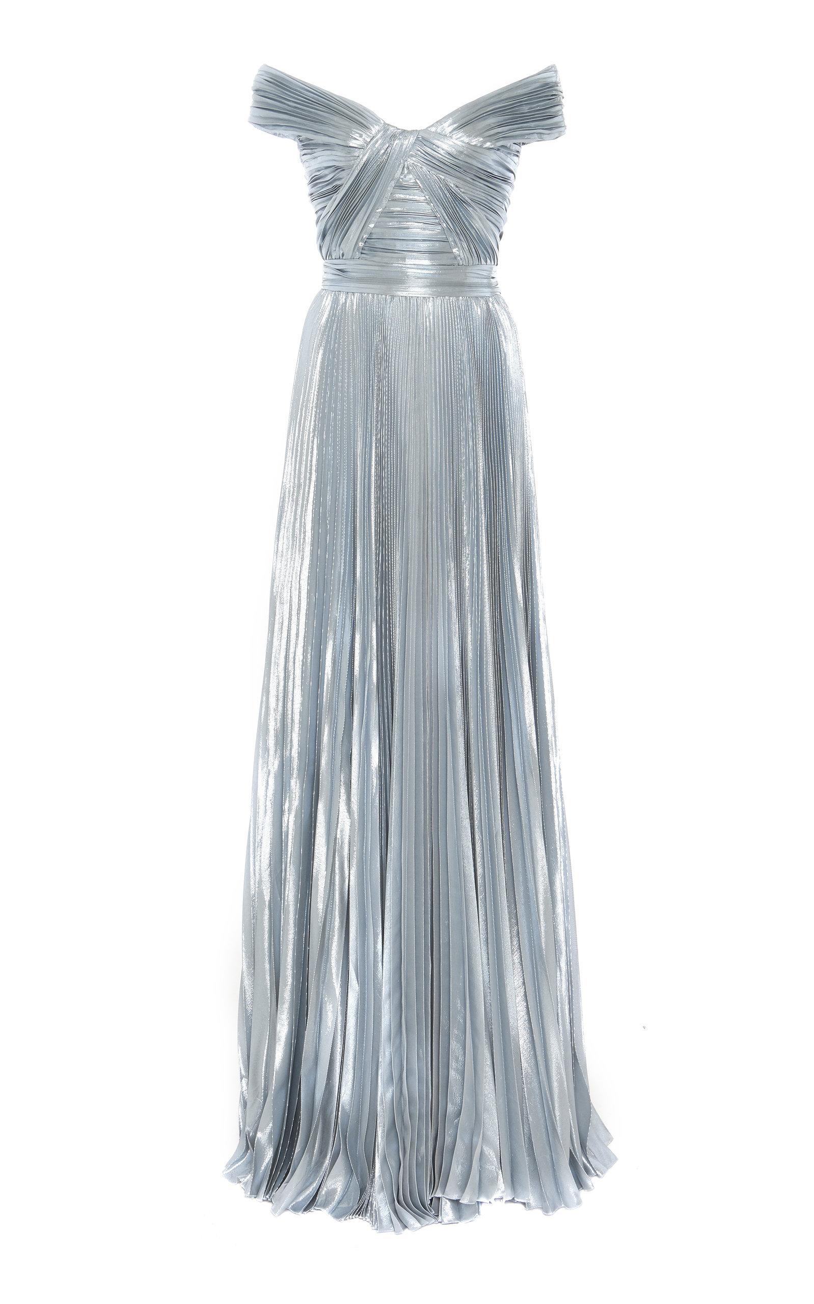 Buy Zuhair Murad Azdorado Off-The-Shoulder Silk-Blend Gown online, shop Zuhair Murad at the best price