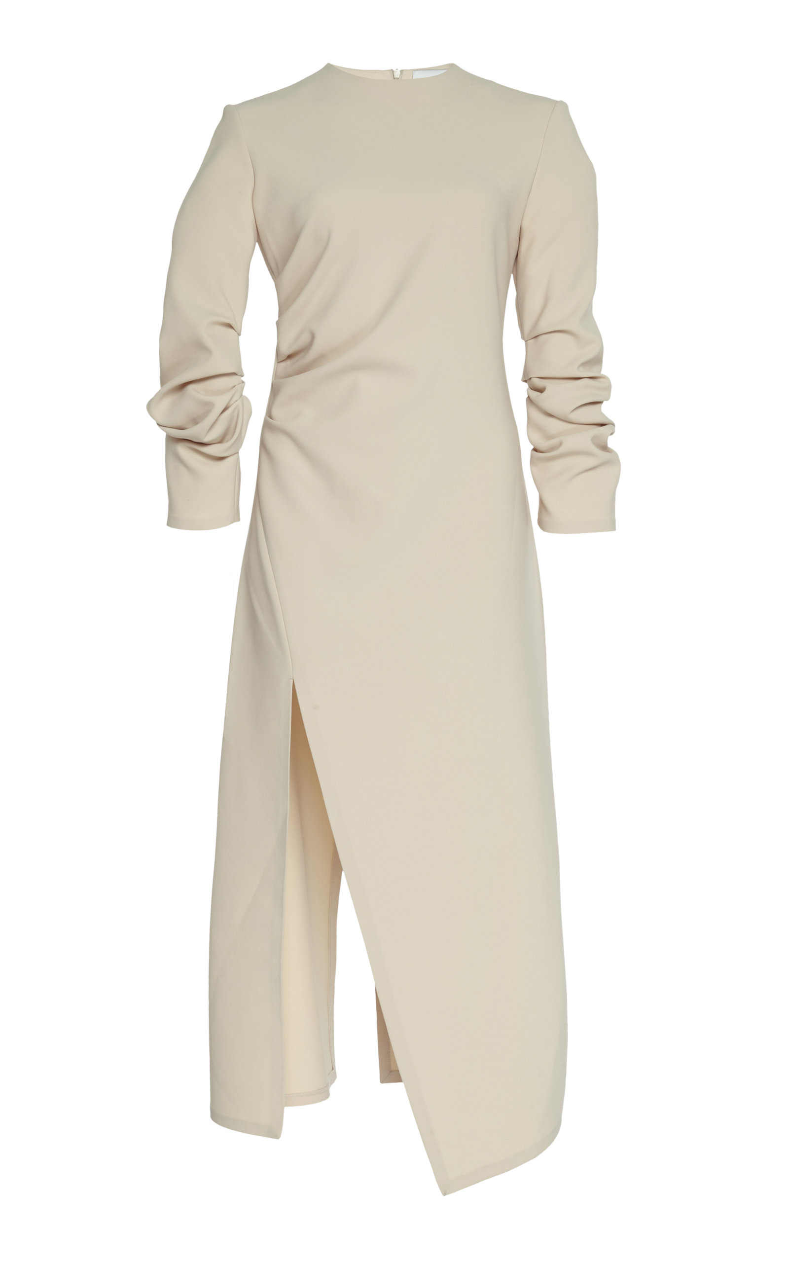 Buy A.W.A.K.E. MODE Gathered Crepe Thigh-Split Midi Dress online, shop A.W.A.K.E. MODE at the best price