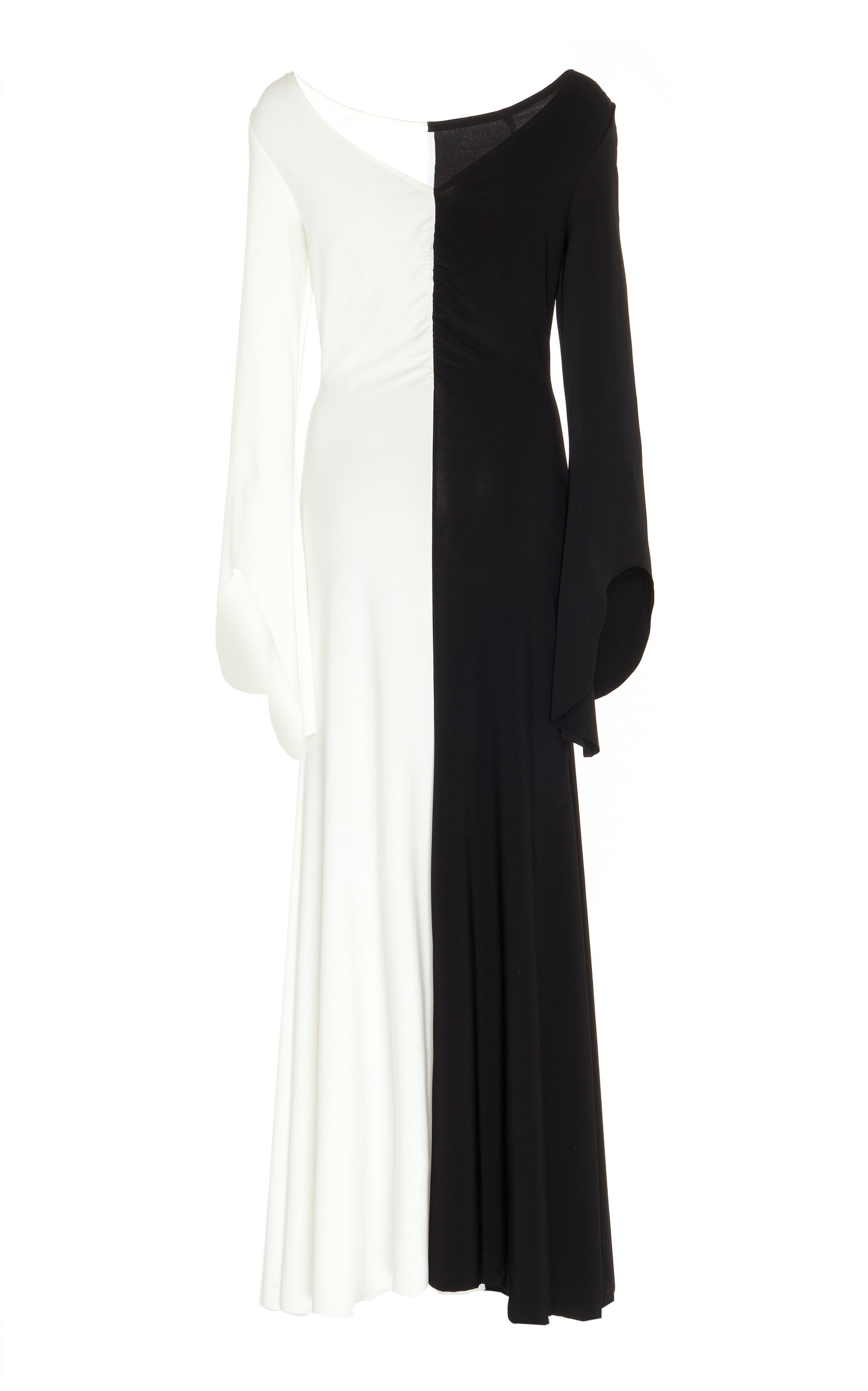 Buy A.W.A.K.E. MODE Contrast Stretch-Jersey Maxi Dress online, shop A.W.A.K.E. MODE at the best price