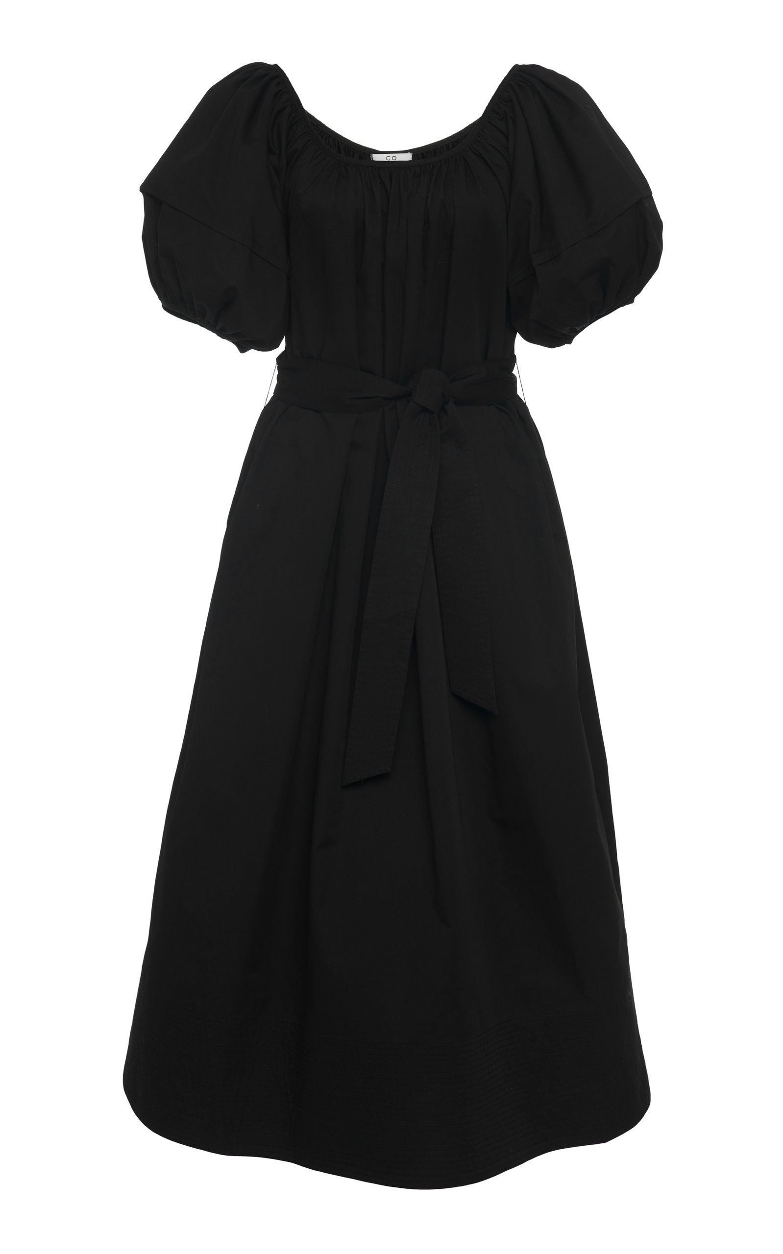 Buy Co Belted Cotton-Poplin Midi Dress online, shop Co at the best price