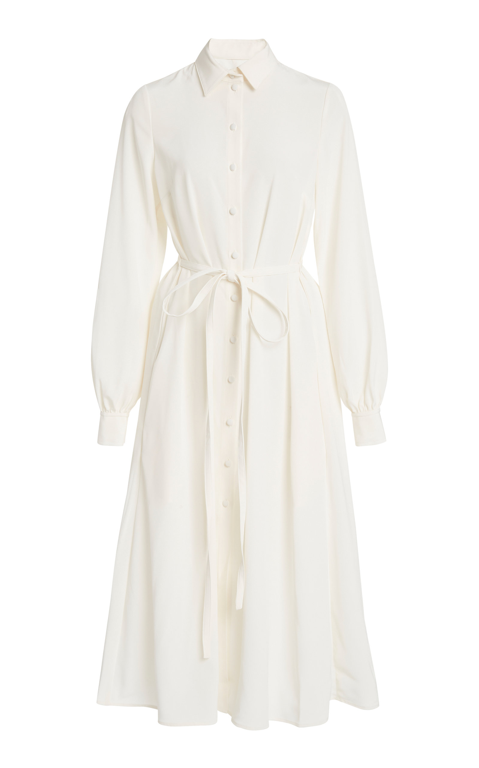 Buy Co Japanese Stretch Crepe Belted Shirt Dress online, shop Co at the best price