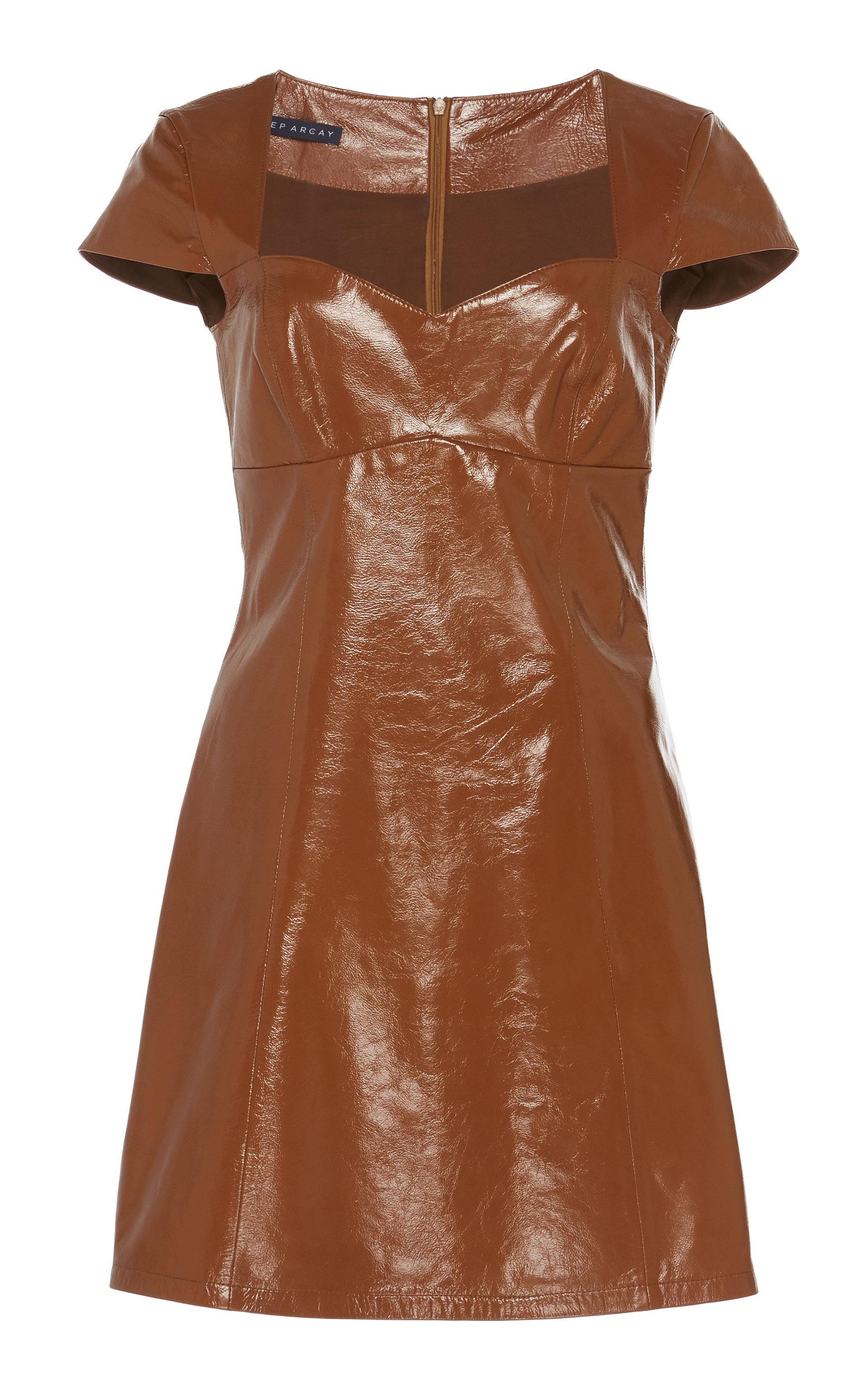 Buy Zeynep Arçay Patent Leather Mini Dress online, shop Zeynep Arçay at the best price