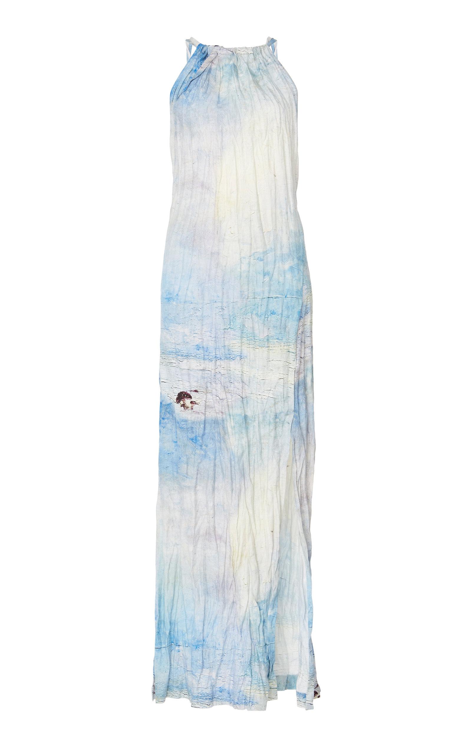 Buy Acne Studios Drusilla Li Painted Linen Dress online, shop Acne Studios at the best price