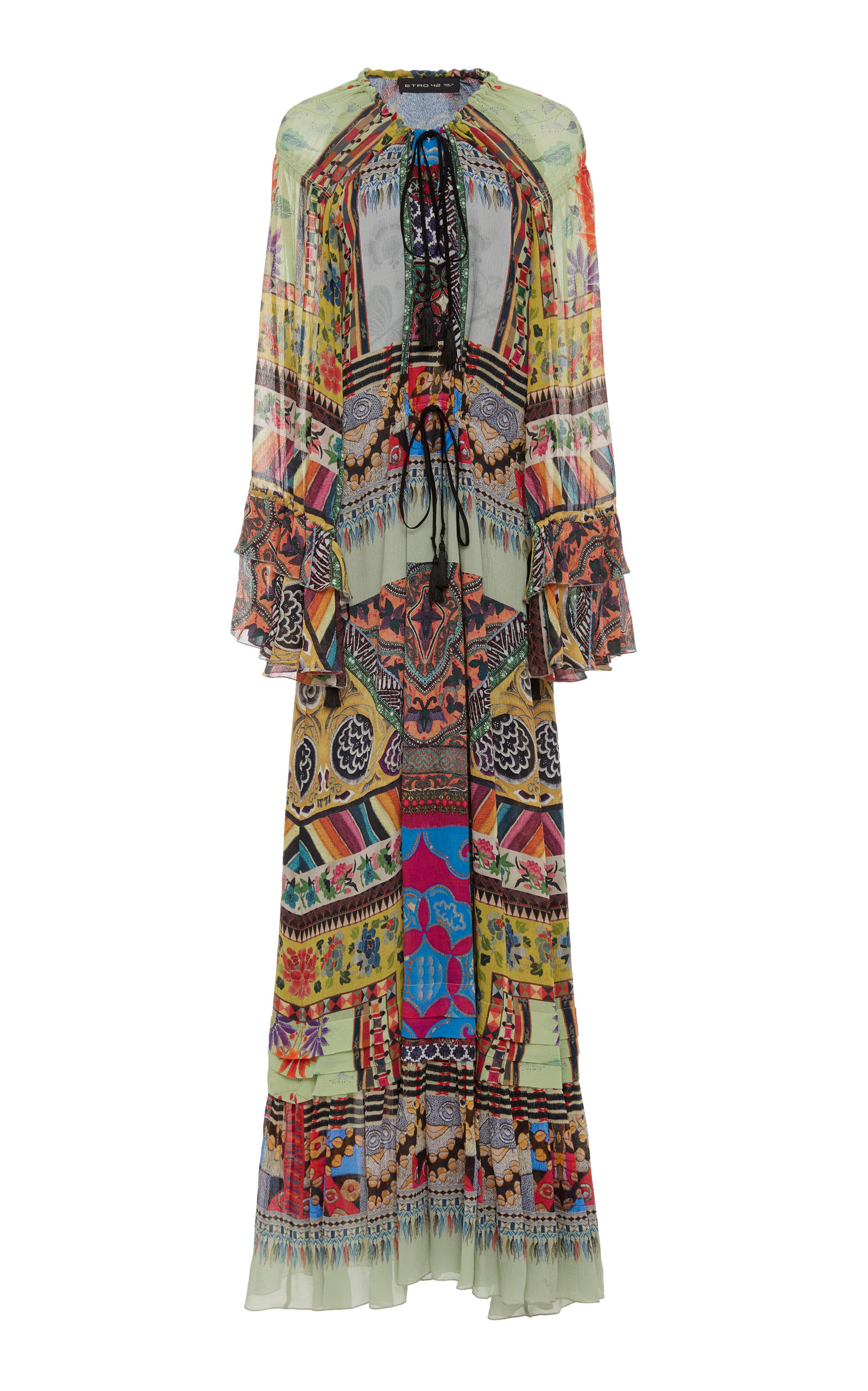 Buy Etro Patterned Silk-Georgette Maxi Dress online, shop Etro at the best price