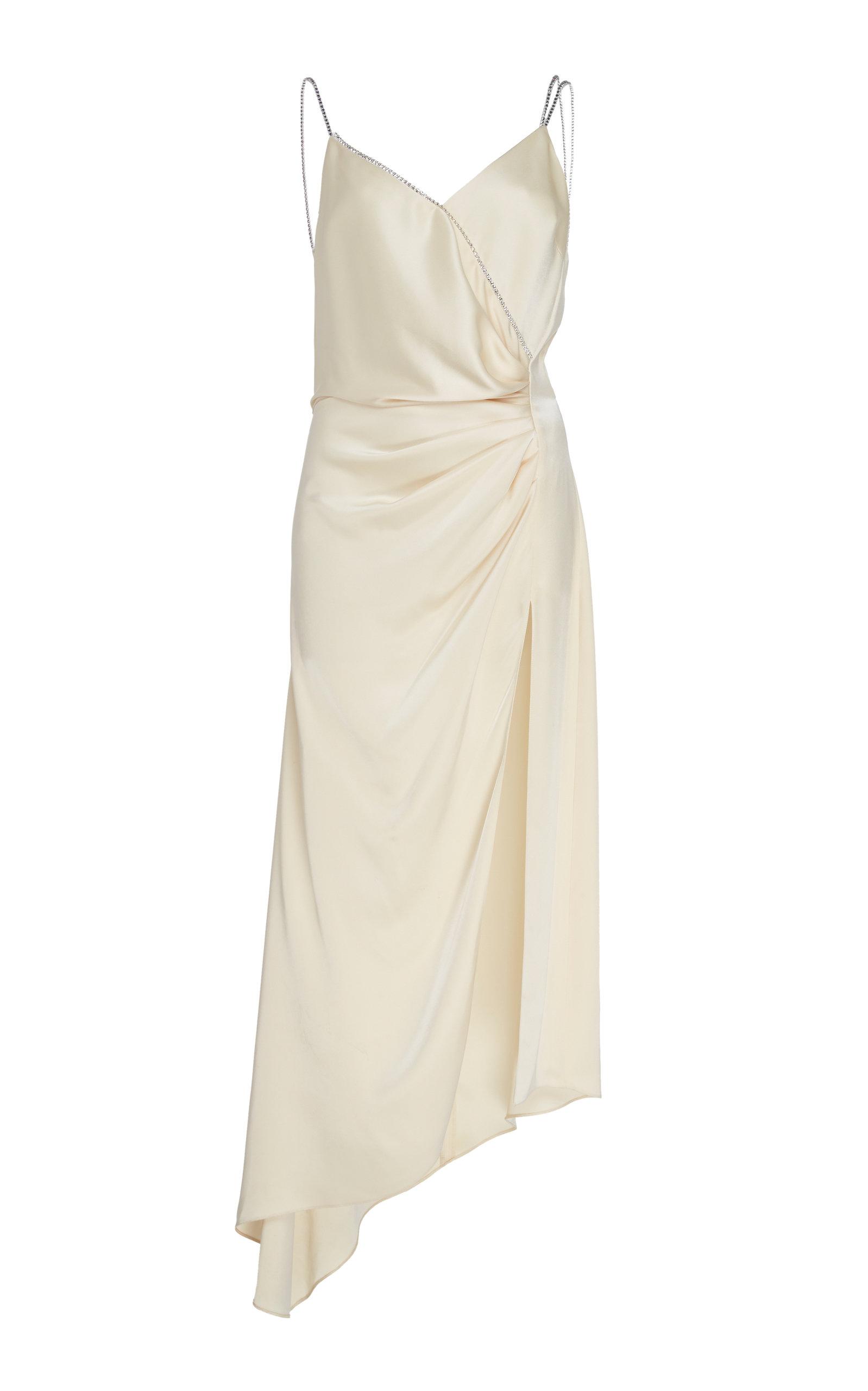 Buy David Koma Asymmetrical Silk-Satin Slip Dress online, shop David Koma at the best price