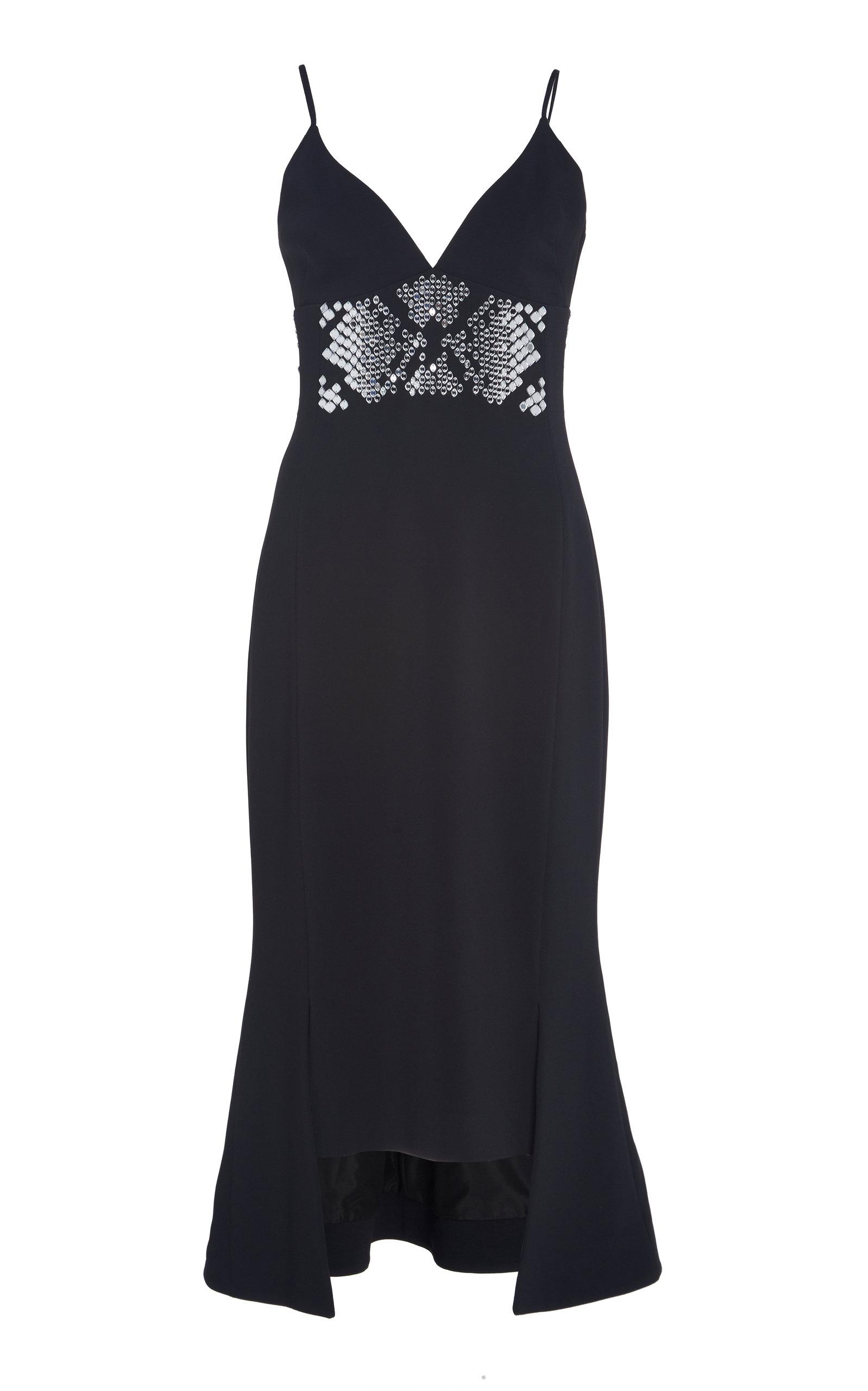 Buy David Koma Plexi Embroidered Asymmetrical Cocktail Dress online, shop David Koma at the best price