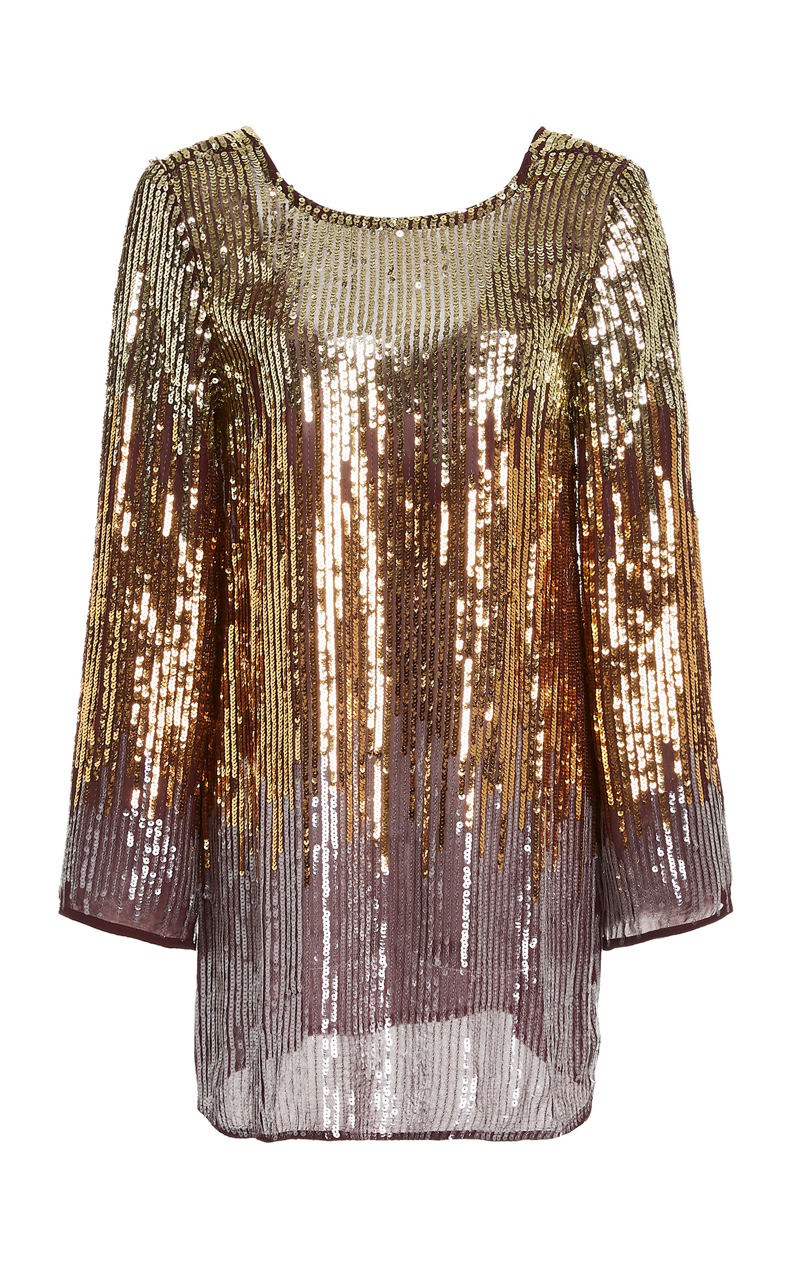 Buy RIXO Aria Sequined Chiffon Mini Dress online, shop RIXO at the best price