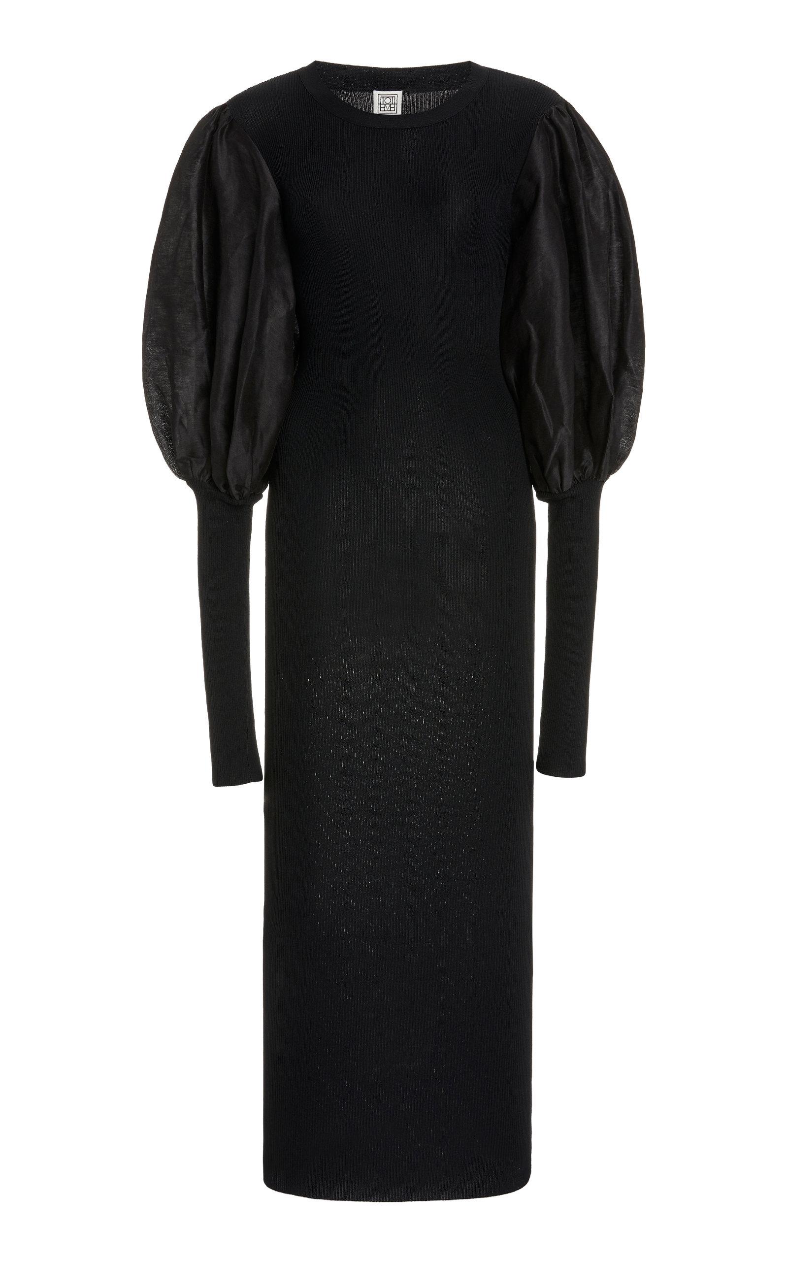 Buy Toteme Vignola Stretch-Knit Midi Dress online, shop Toteme at the best price