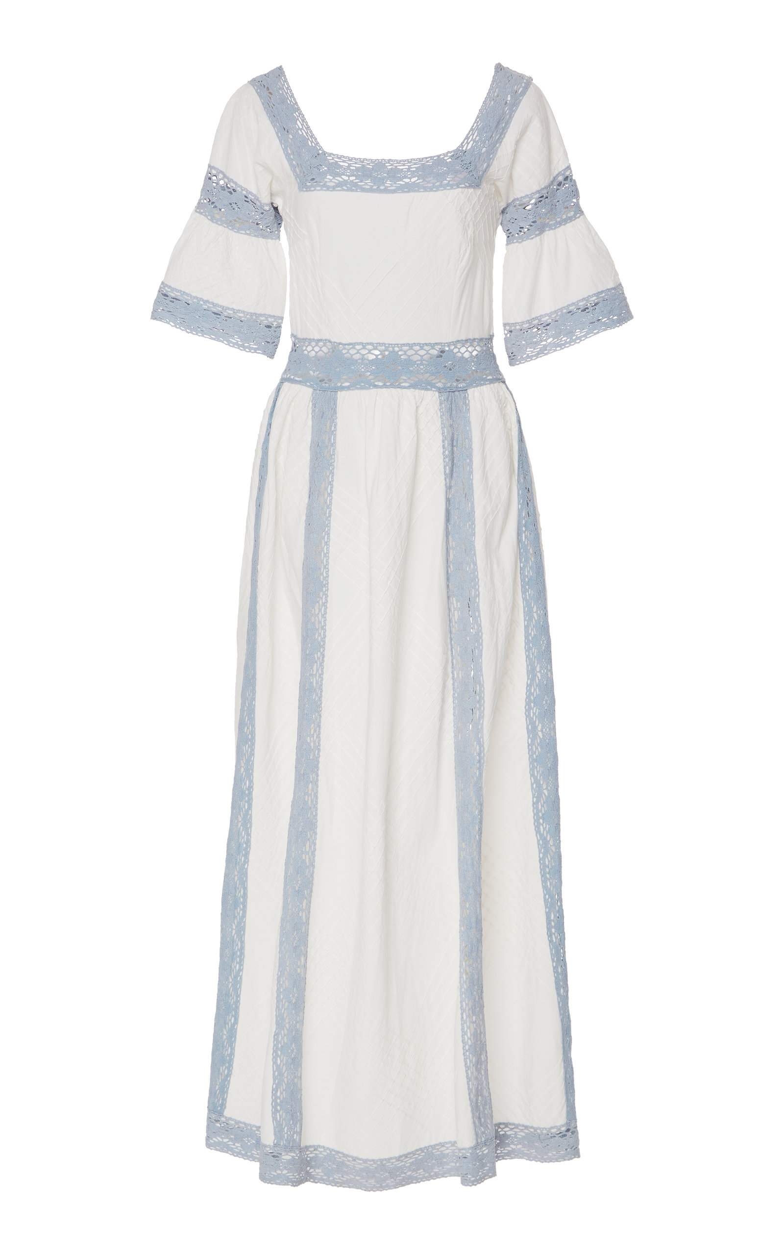 Buy Luisa Beccaria Lace Trimmed Maxi Dress online, shop Luisa Beccaria at the best price