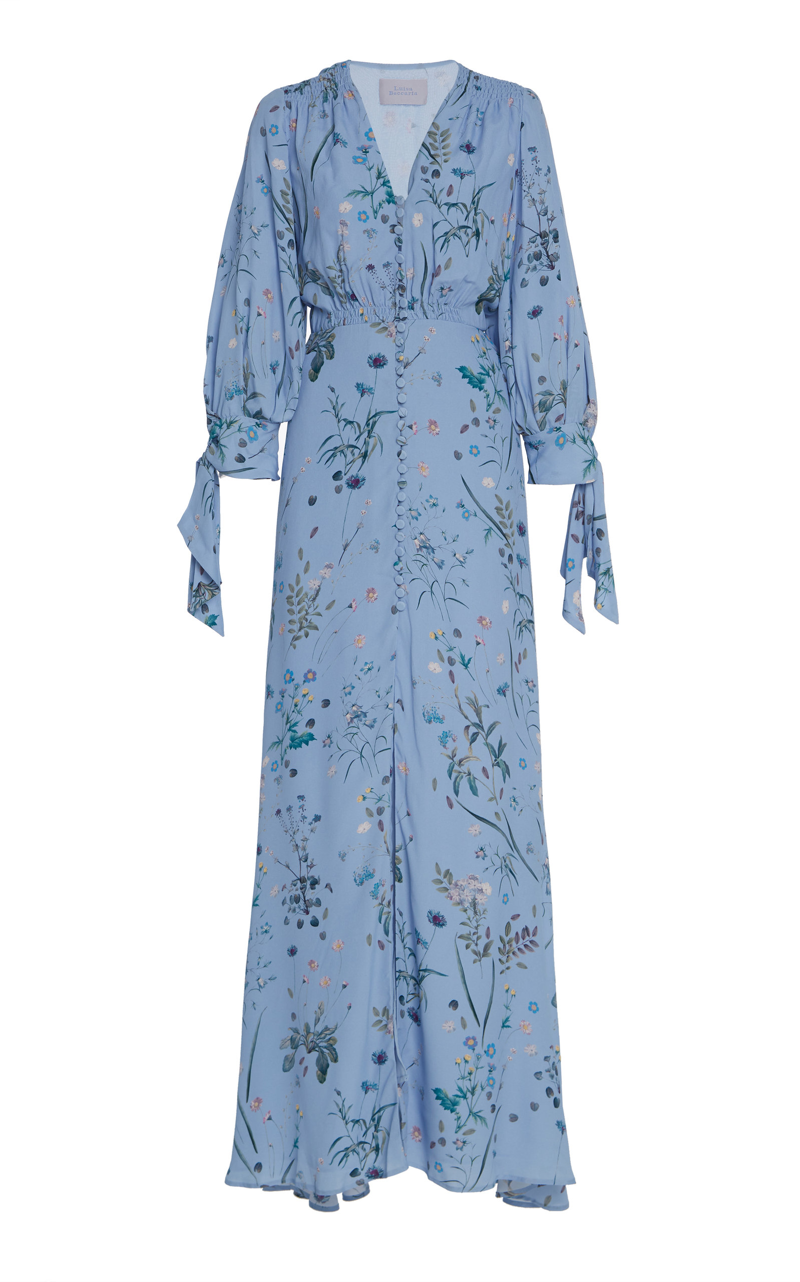 Buy Luisa Beccaria Floral-Print Crepe Maxi Dress online, shop Luisa Beccaria at the best price
