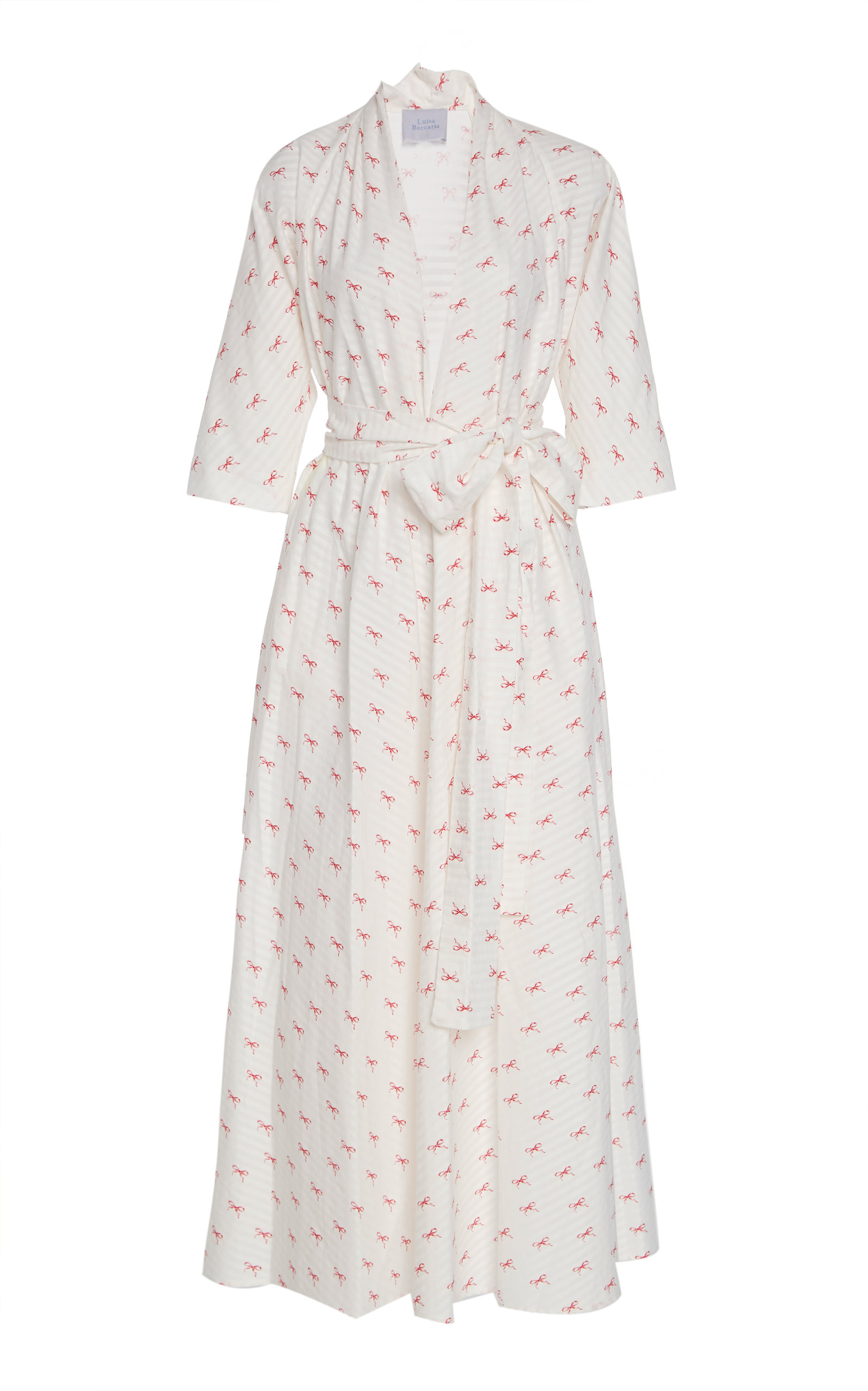 Buy Luisa Beccaria Tie-Front Printed Cotton-Poplin Midi Dress online, shop Luisa Beccaria at the best price