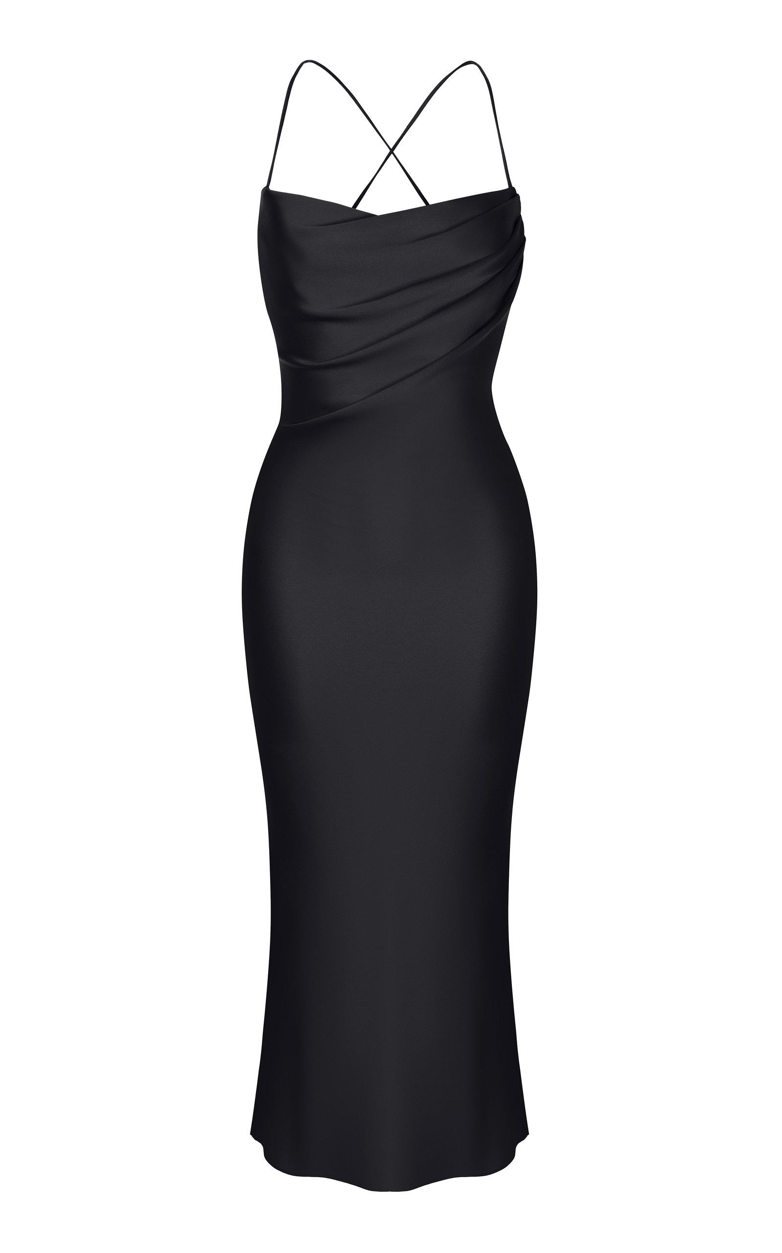 Buy Rasario Sleeveless Satin Midi Slip Dress online, shop Rasario at the best price