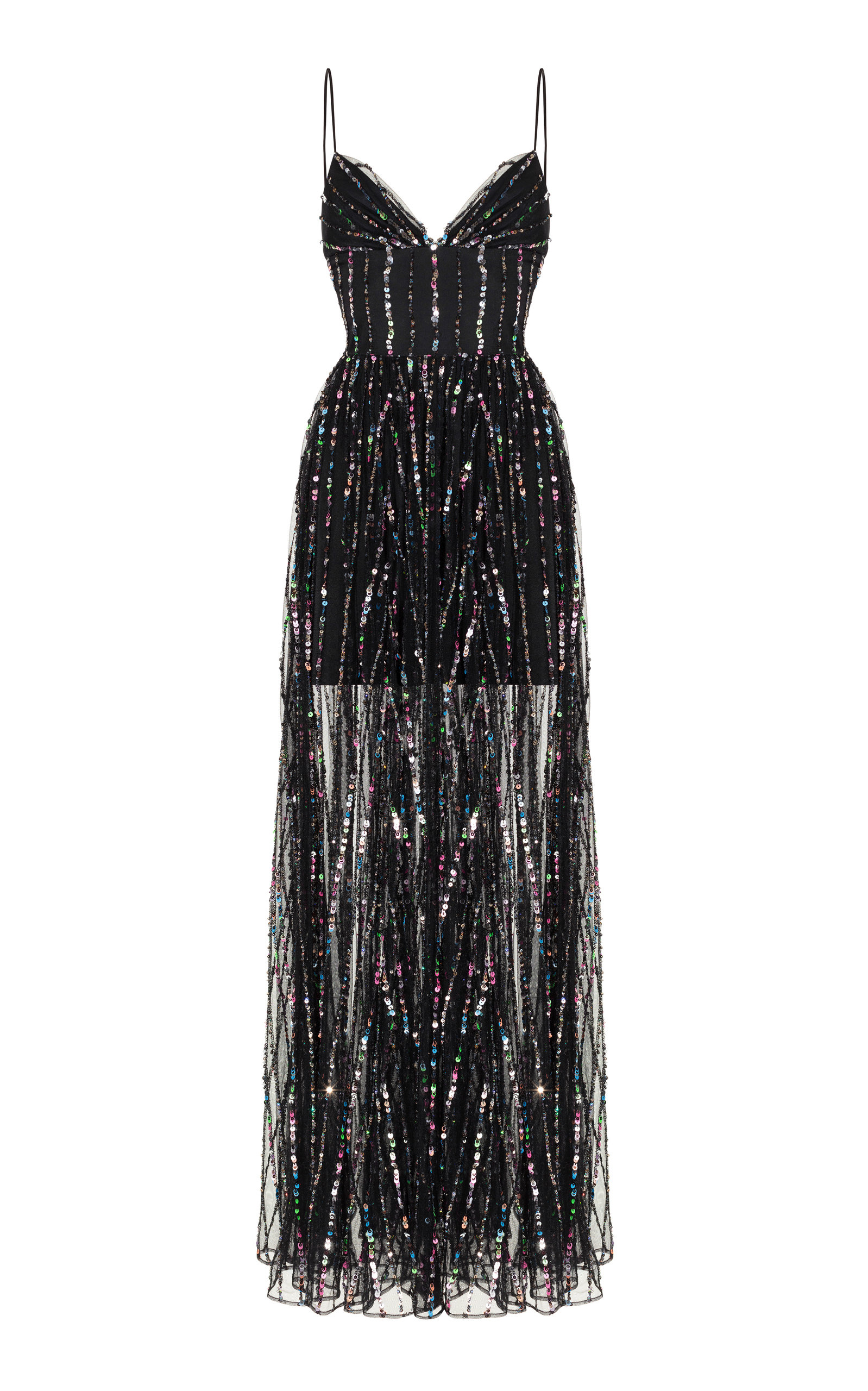 Buy Rasario Sequined Tulle Maxi Gown online, shop Rasario at the best price