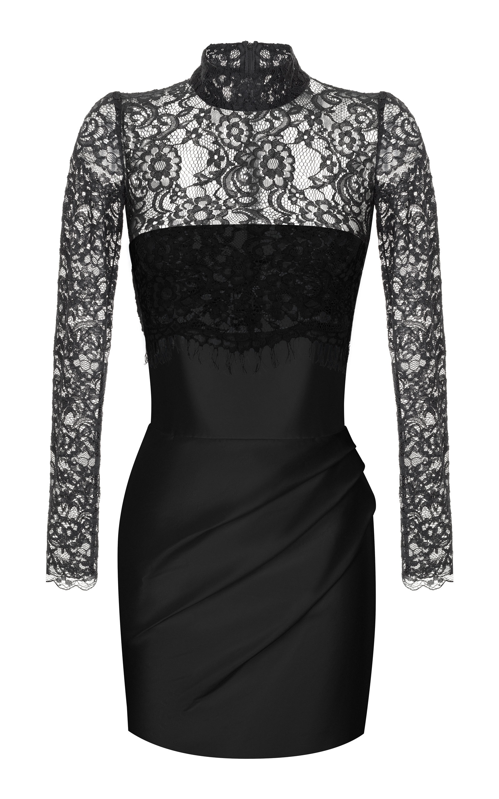 Buy Rasario Silk And Lace Corset Mini Dress online, shop Rasario at the best price