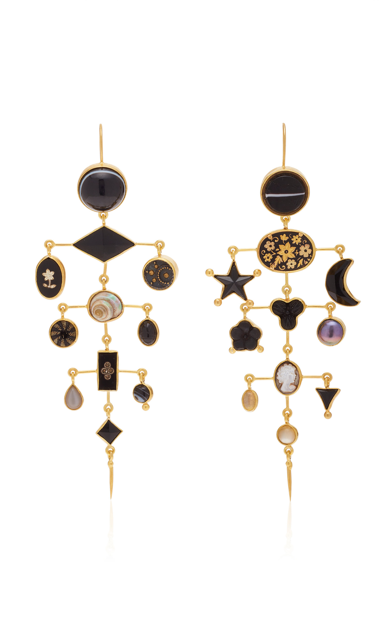 Women's Gold-Plated And Multi-Stone Earrings