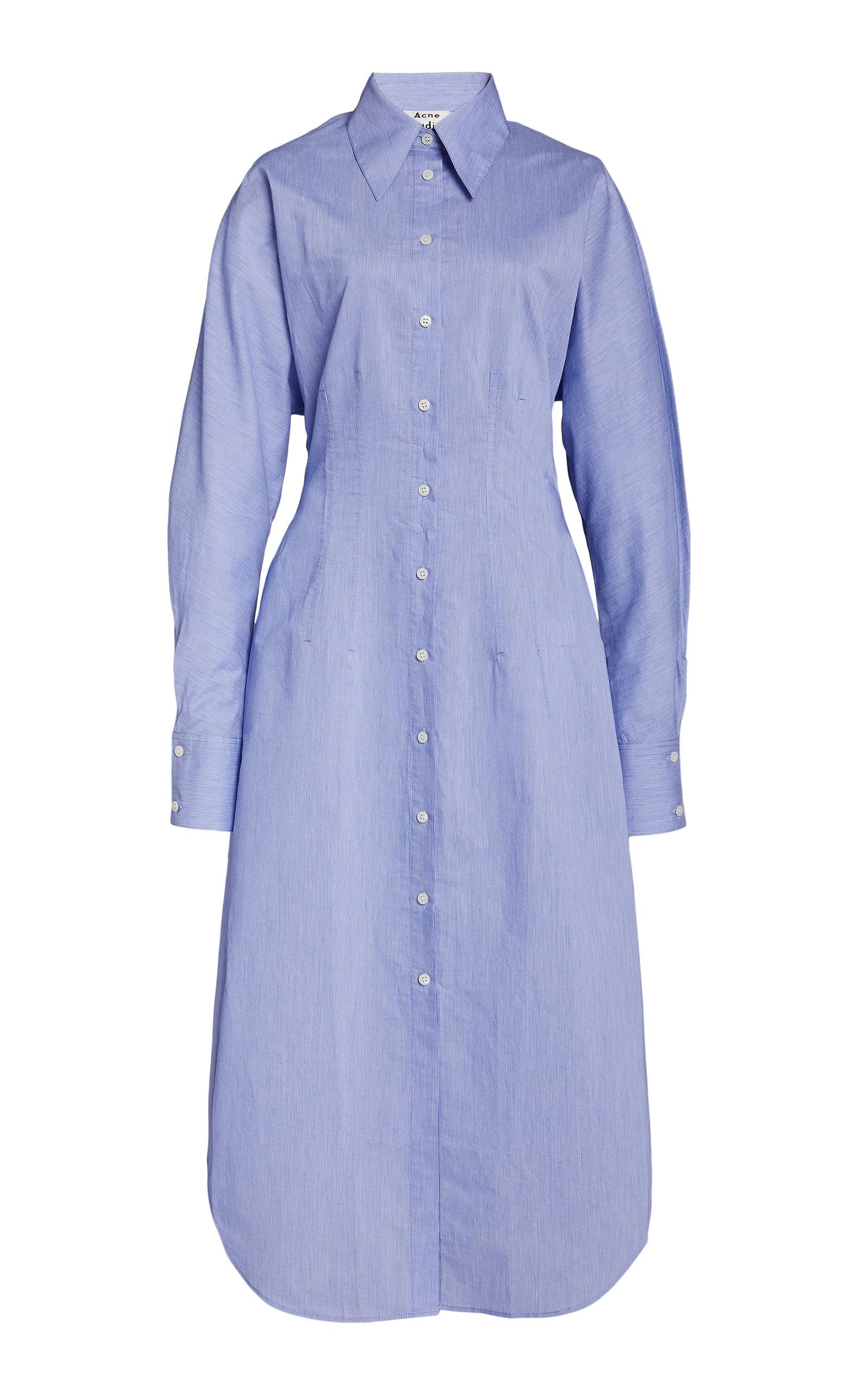 Buy Acne Studios Danete Cotton-Blend Shirt Dress online, shop Acne Studios at the best price
