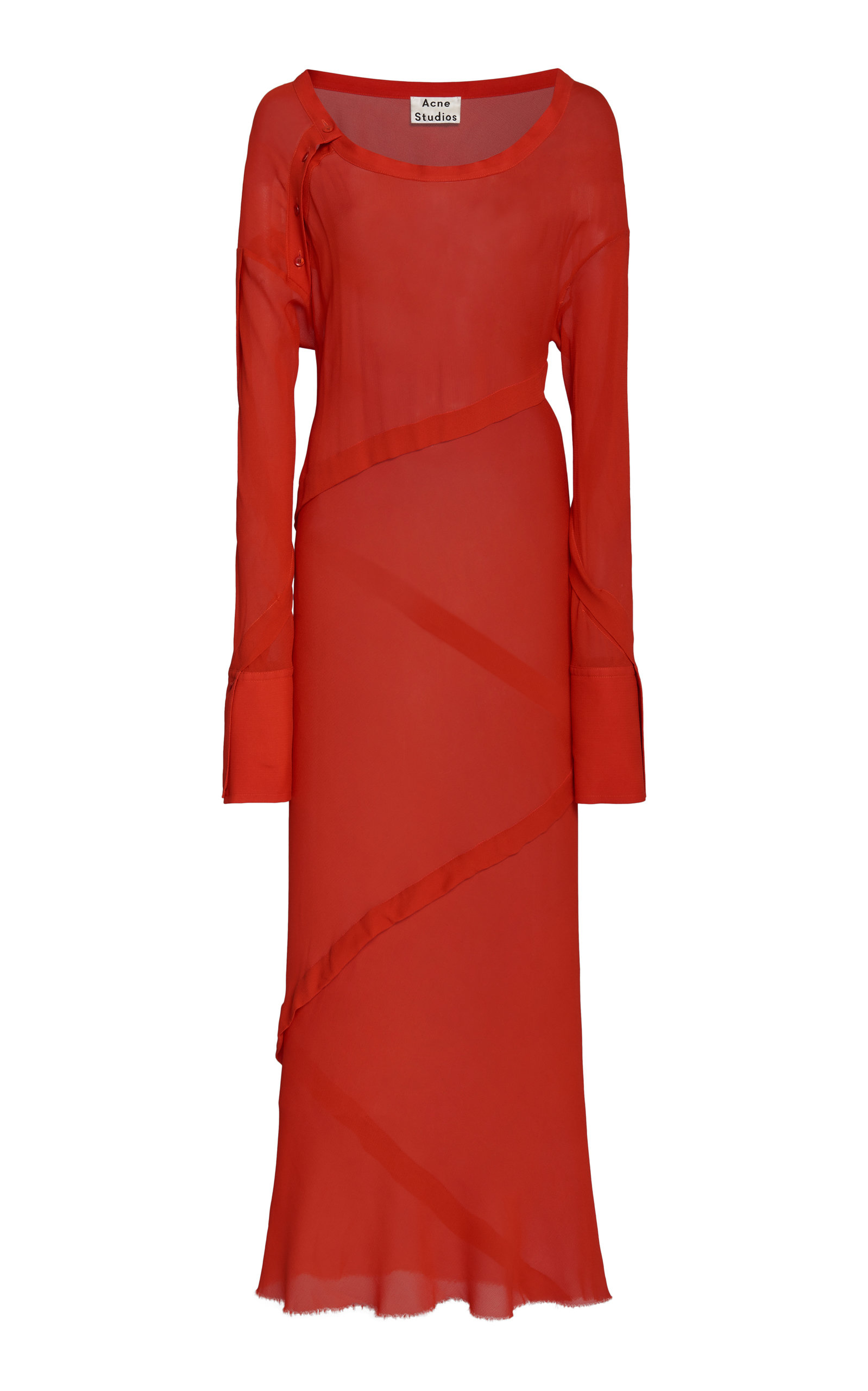 Buy Acne Studios Deni Chiffon Maxi Dress online, shop Acne Studios at the best price