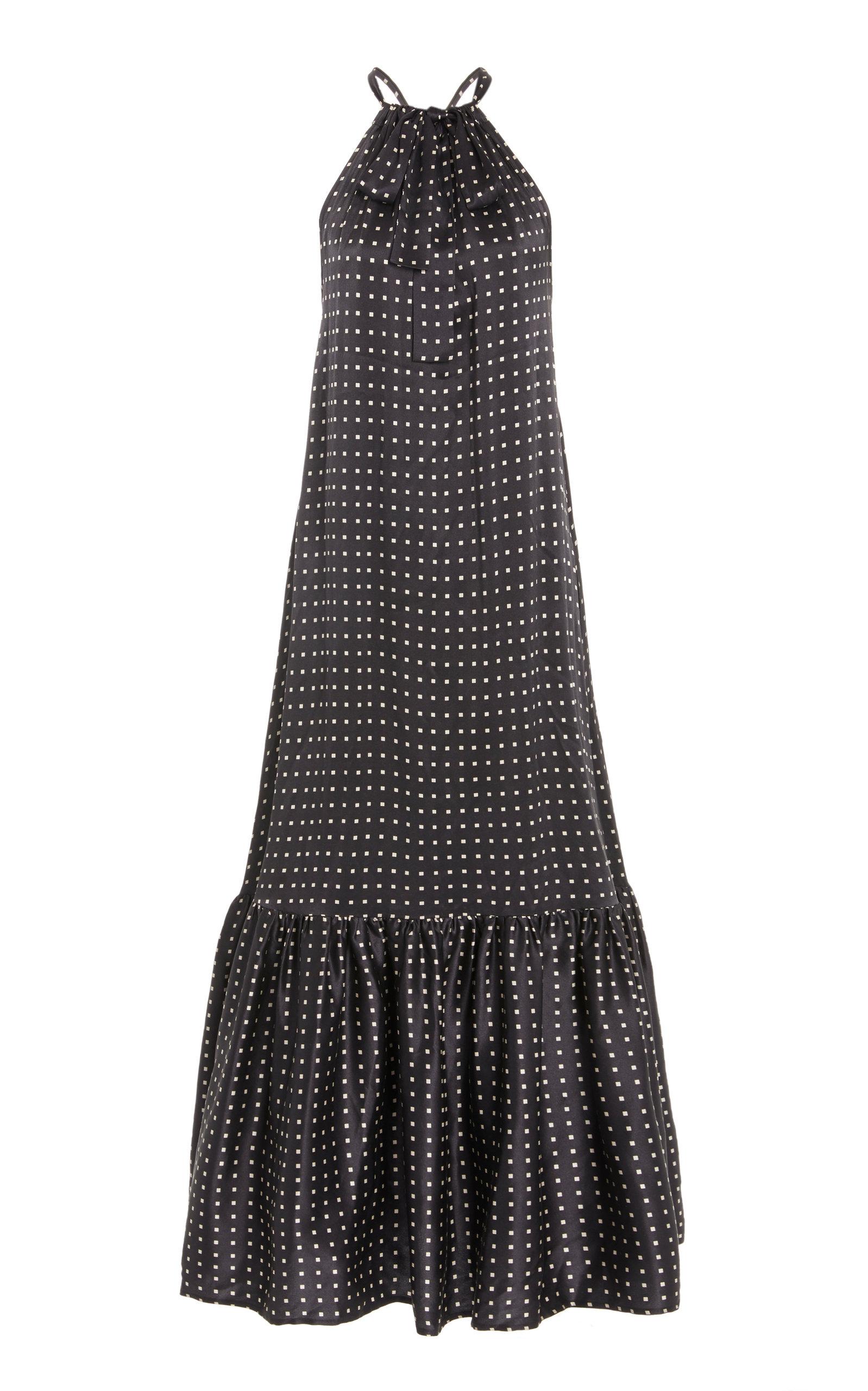 Buy Asceno The Ibiza Printed Silk Midi Dress online, shop Asceno at the best price