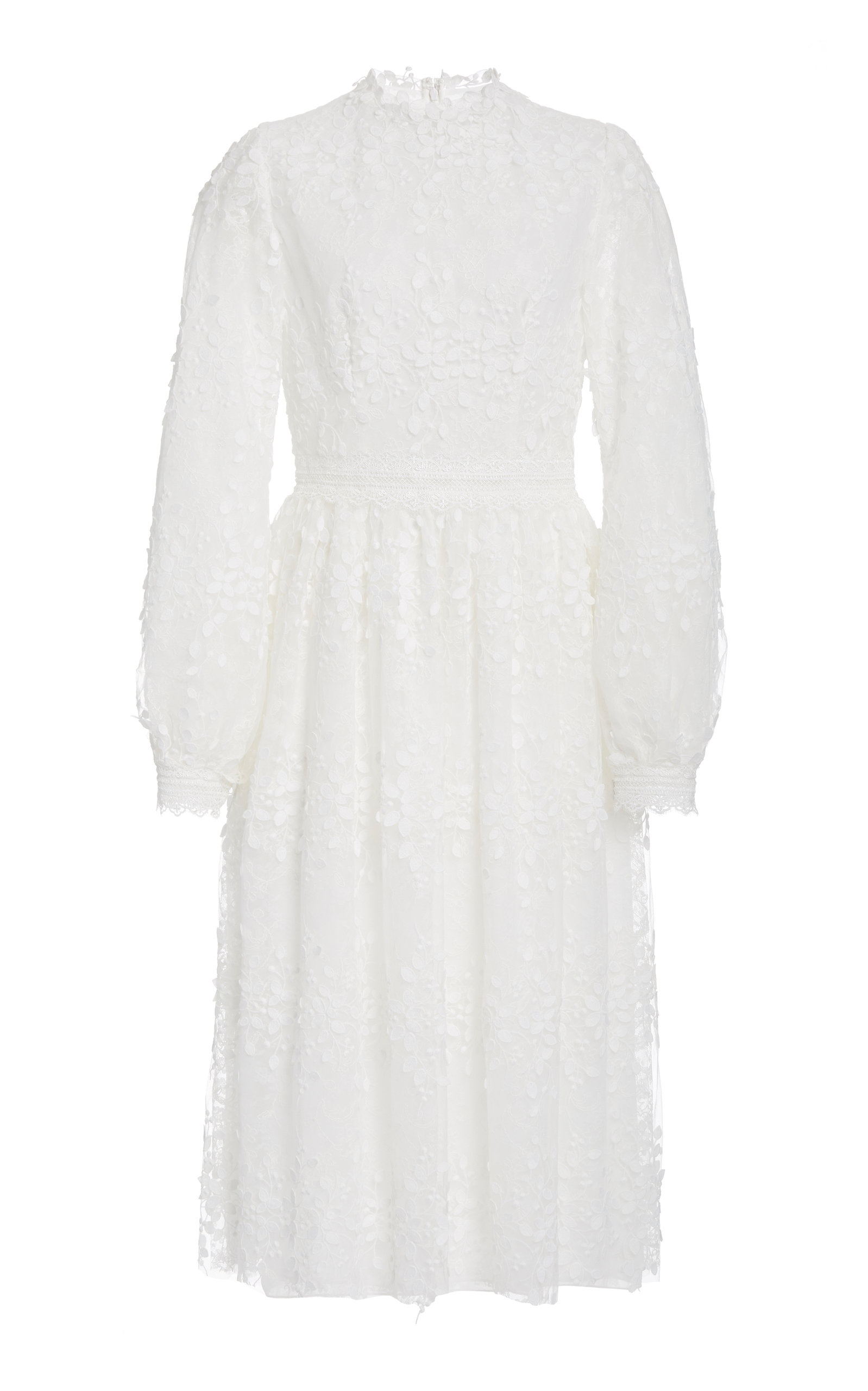 Buy Costarellos Embroidered Tulle Midi Dress online, shop Costarellos at the best price