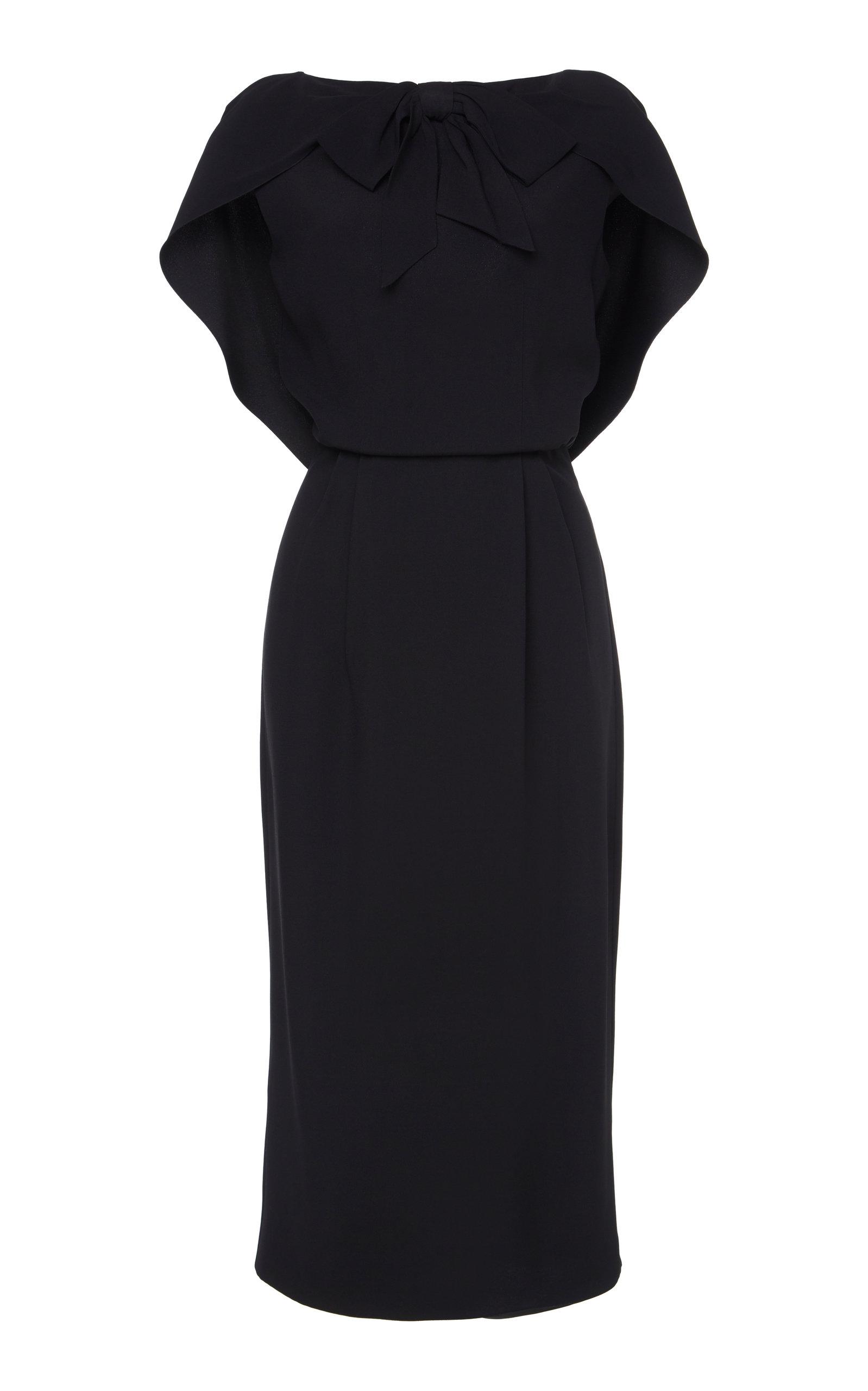 Buy Prada Cape-Effect Crepe Midi Dress online, shop Prada at the best price