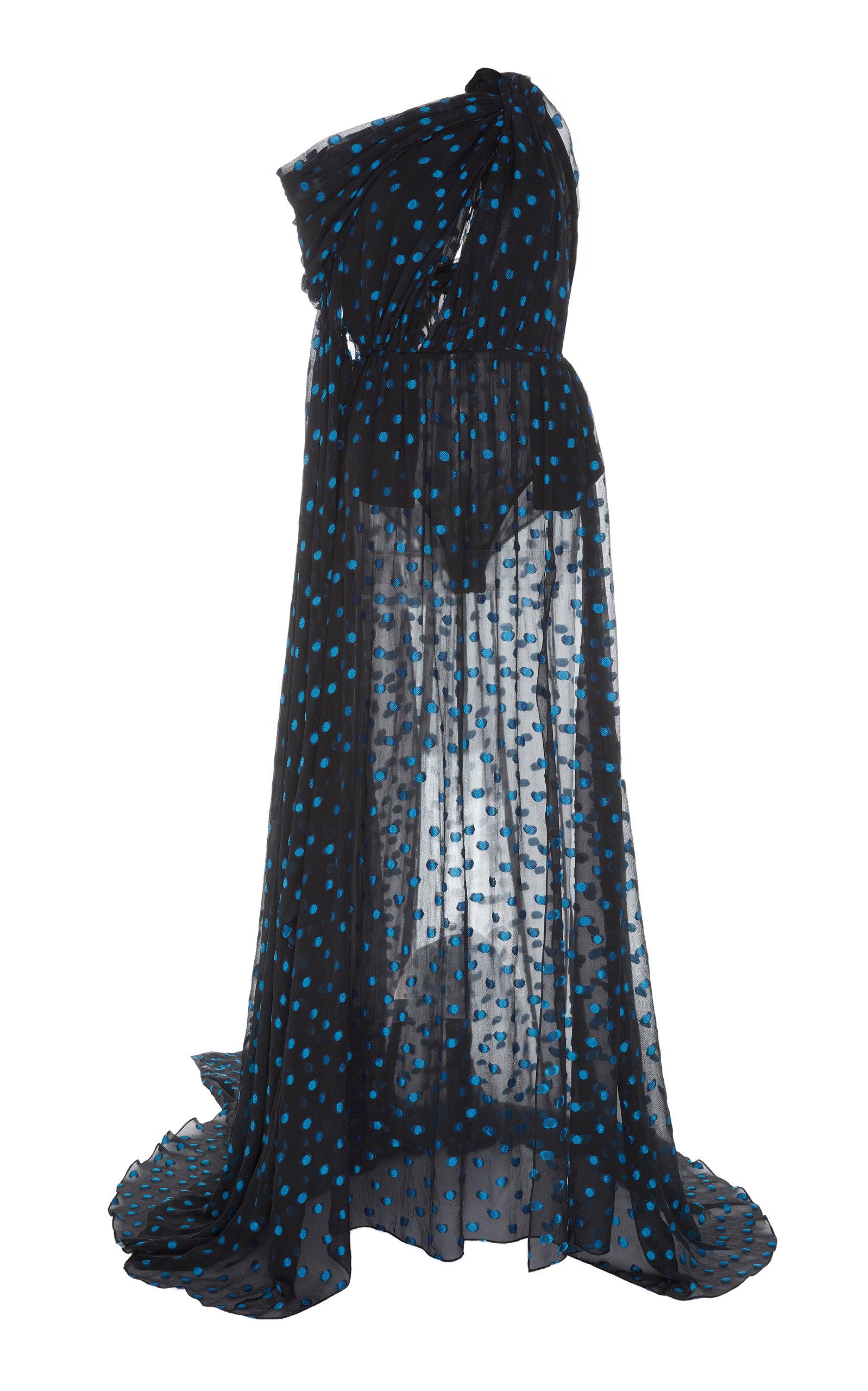 Buy Dundas Draped Printed Chiffon Maxi Dress online, shop Dundas at the best price