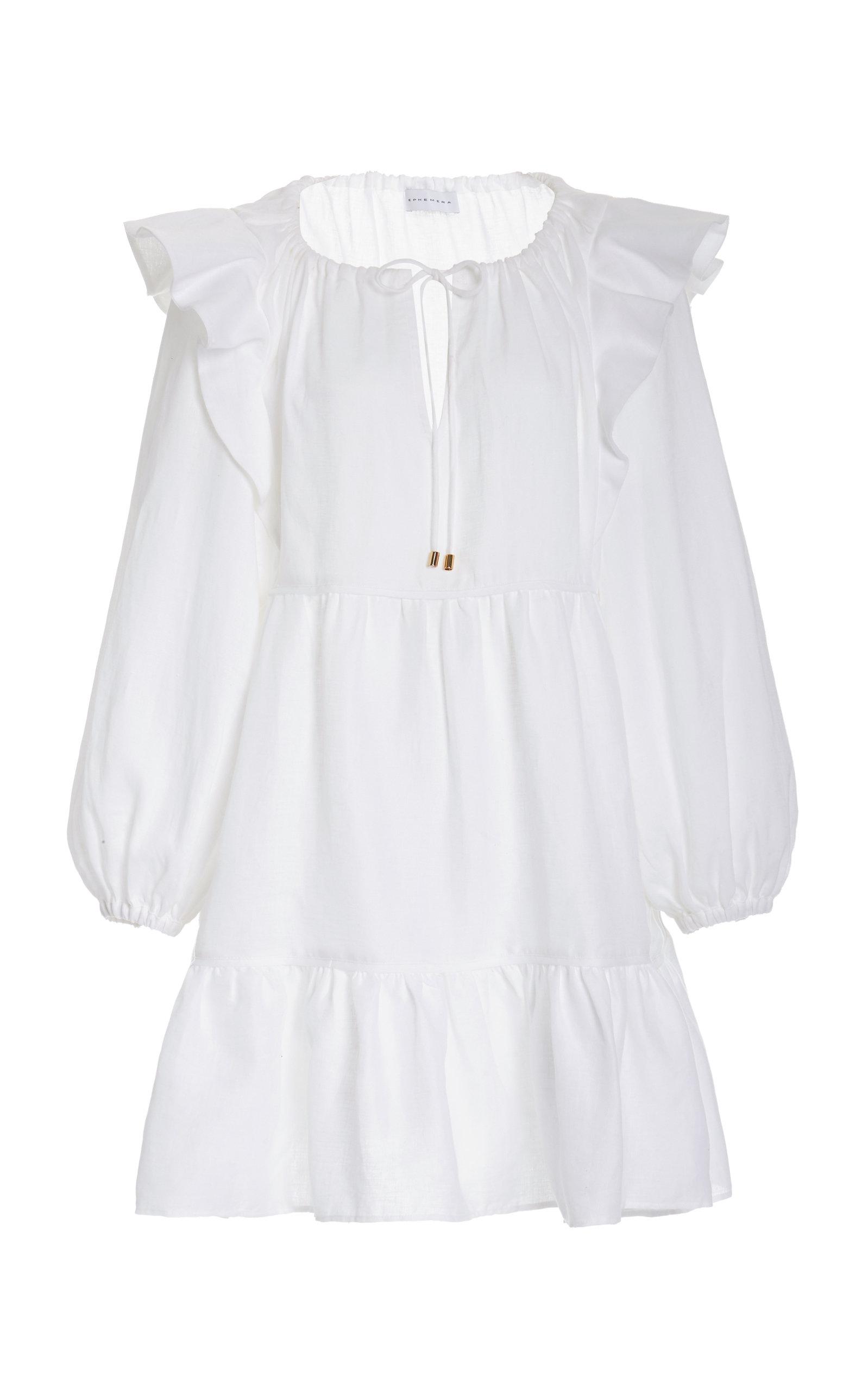 Buy Ephemera Linen Trapeze Mini Dress online, shop Ephemera at the best price