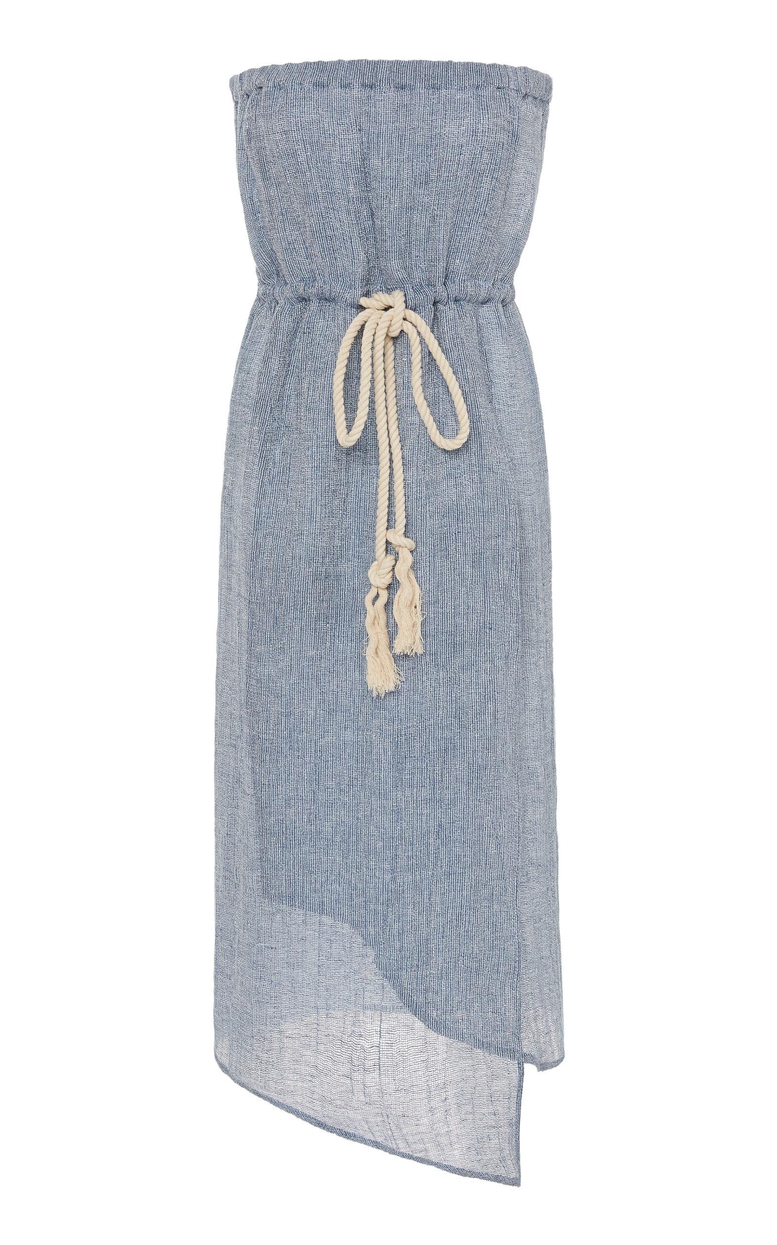 Buy Lisa Marie Fernandez Victor Gauze Midi Dress online, shop Lisa Marie Fernandez at the best price