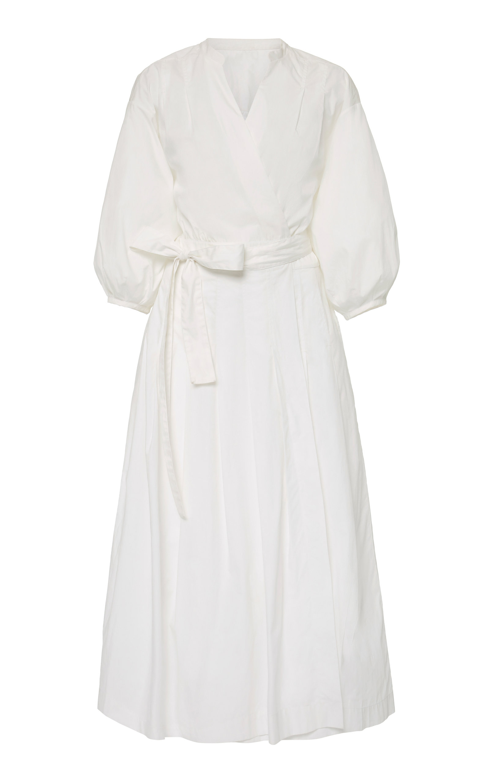Buy Three Graces London Delmare Belted Cotton-Poplin Midi Dress online, shop Three Graces London at the best price