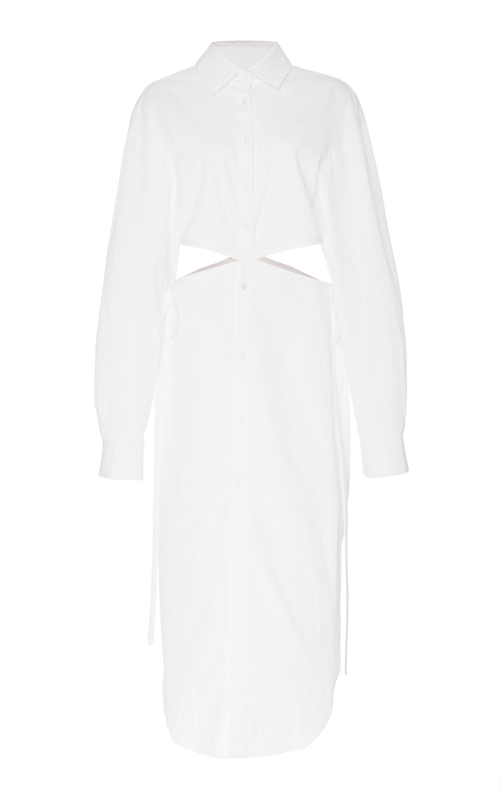 Buy Christopher Esber Twisted Cutout Cotton-Poplin Shirt Dress online, shop Christopher Esber at the best price