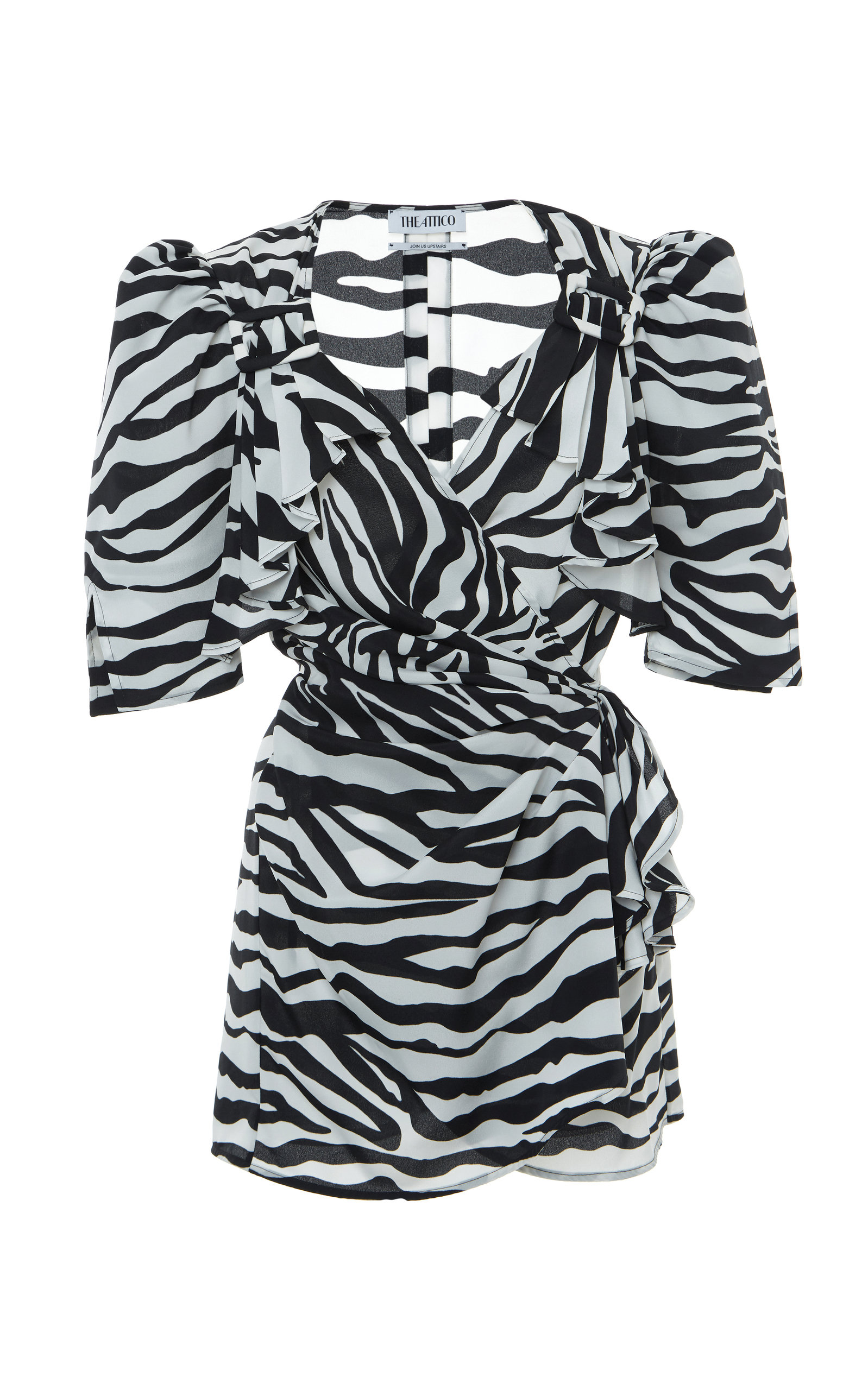 Buy The Attico Zebra-Print Crepe De Chine Dress online, shop The Attico at the best price