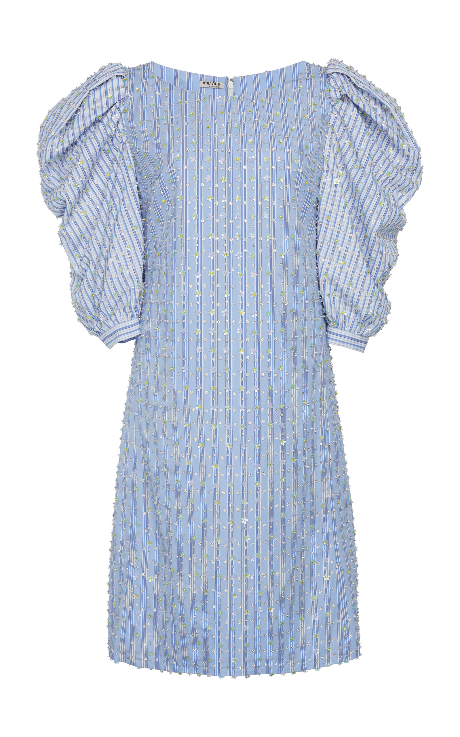Buy Miu Miu Embellished Puff Sleeve Dress online, shop Miu Miu at the best price