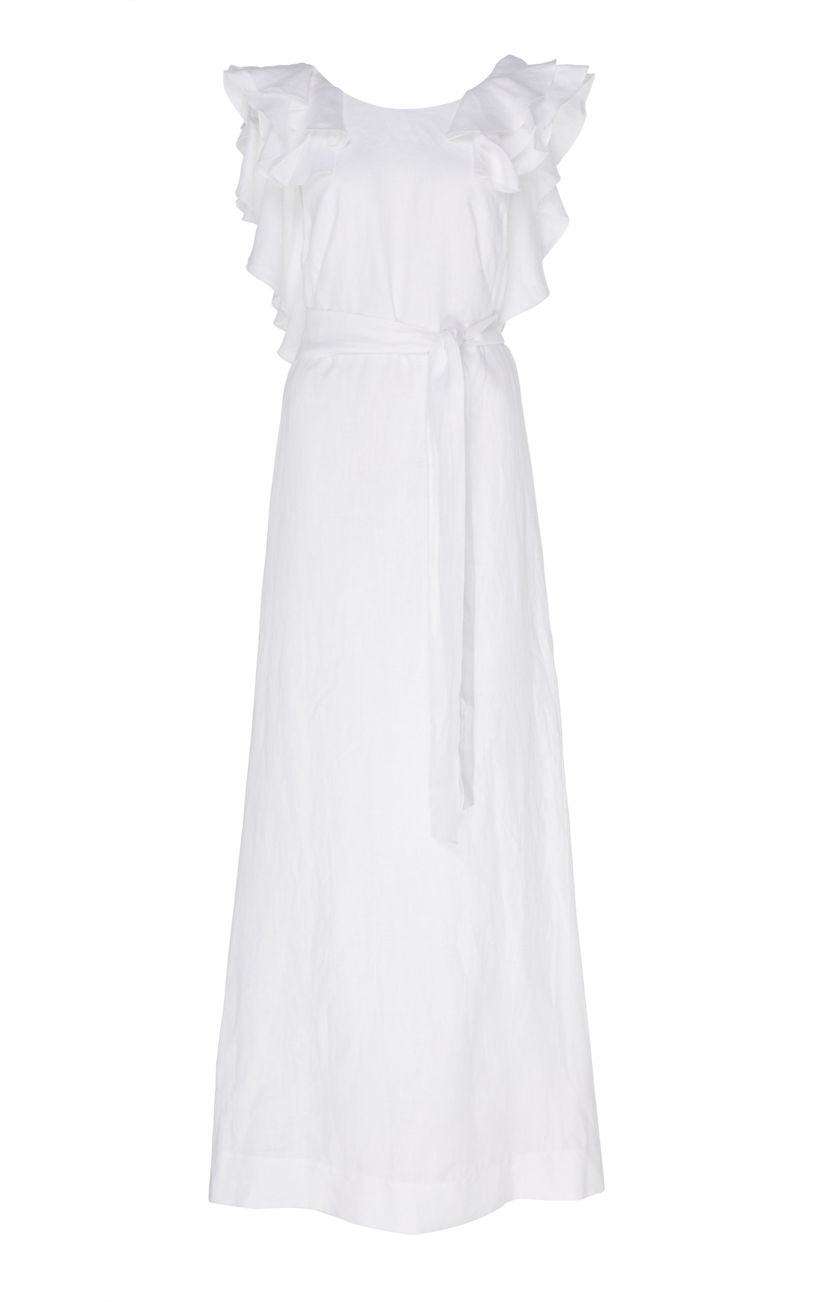 Buy Kalita Eros Ruffled Linen Maxi Dress online, shop Kalita at the best price