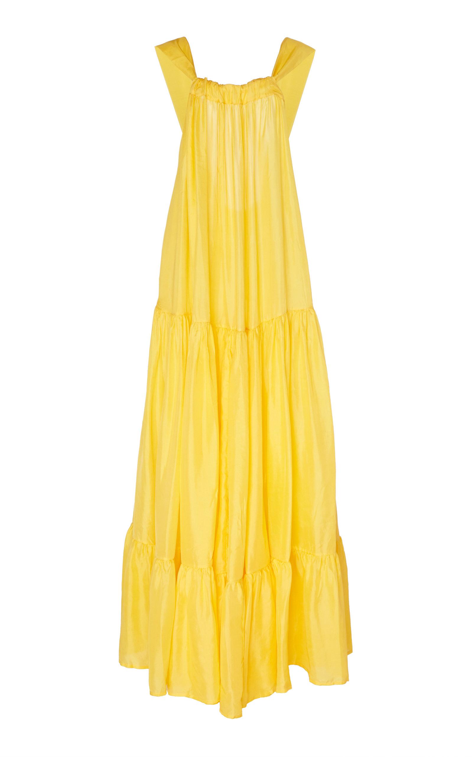 Buy Kalita Asiri Gathered Silk Maxi Dress online, shop Kalita at the best price