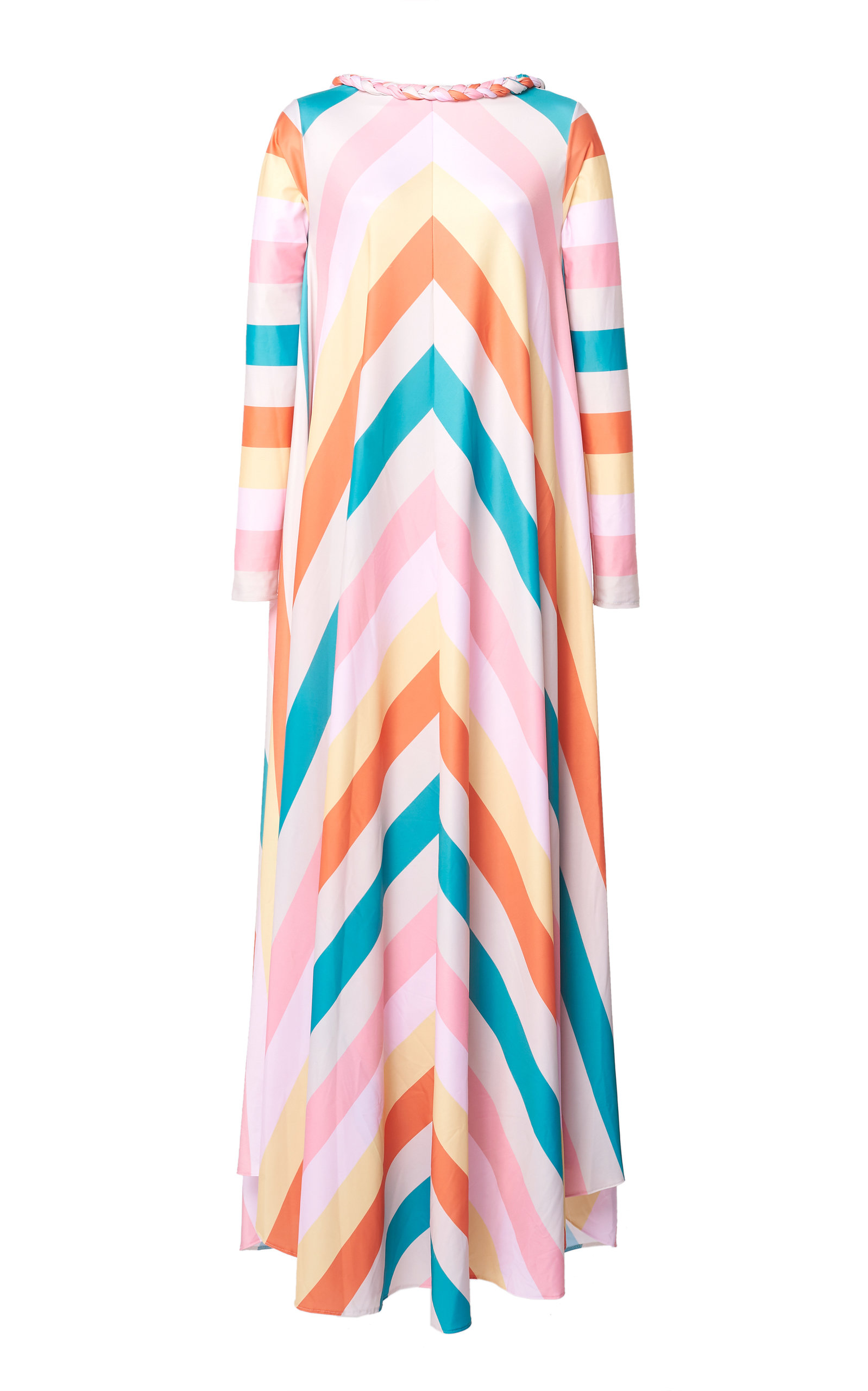Buy Leal Daccarett Gloria Striped Crepe De Chine Dress online, shop Leal Daccarett at the best price