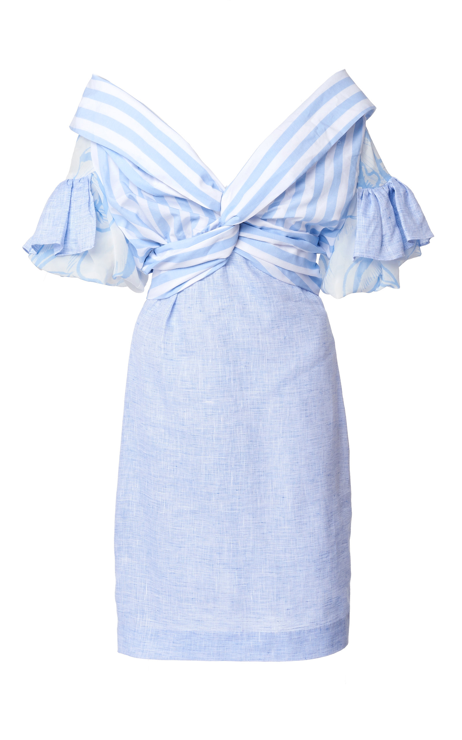 Buy Leal Daccarett Cielo Lindo Striped Linen-Blend Dress online, shop Leal Daccarett at the best price