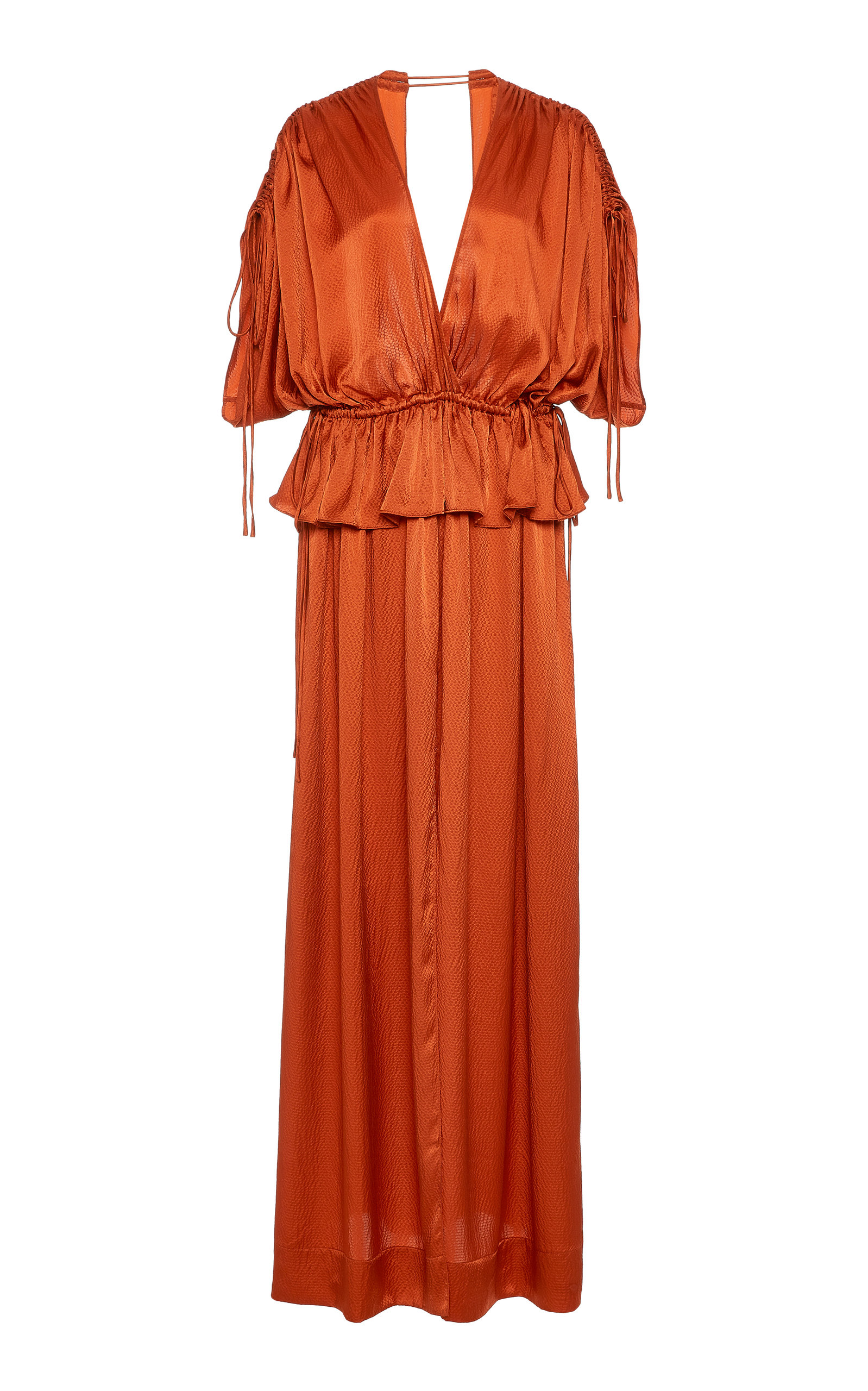 Buy Loup Charmant Athena Front-Slit Silk Maxi Dress online, shop Loup Charmant at the best price
