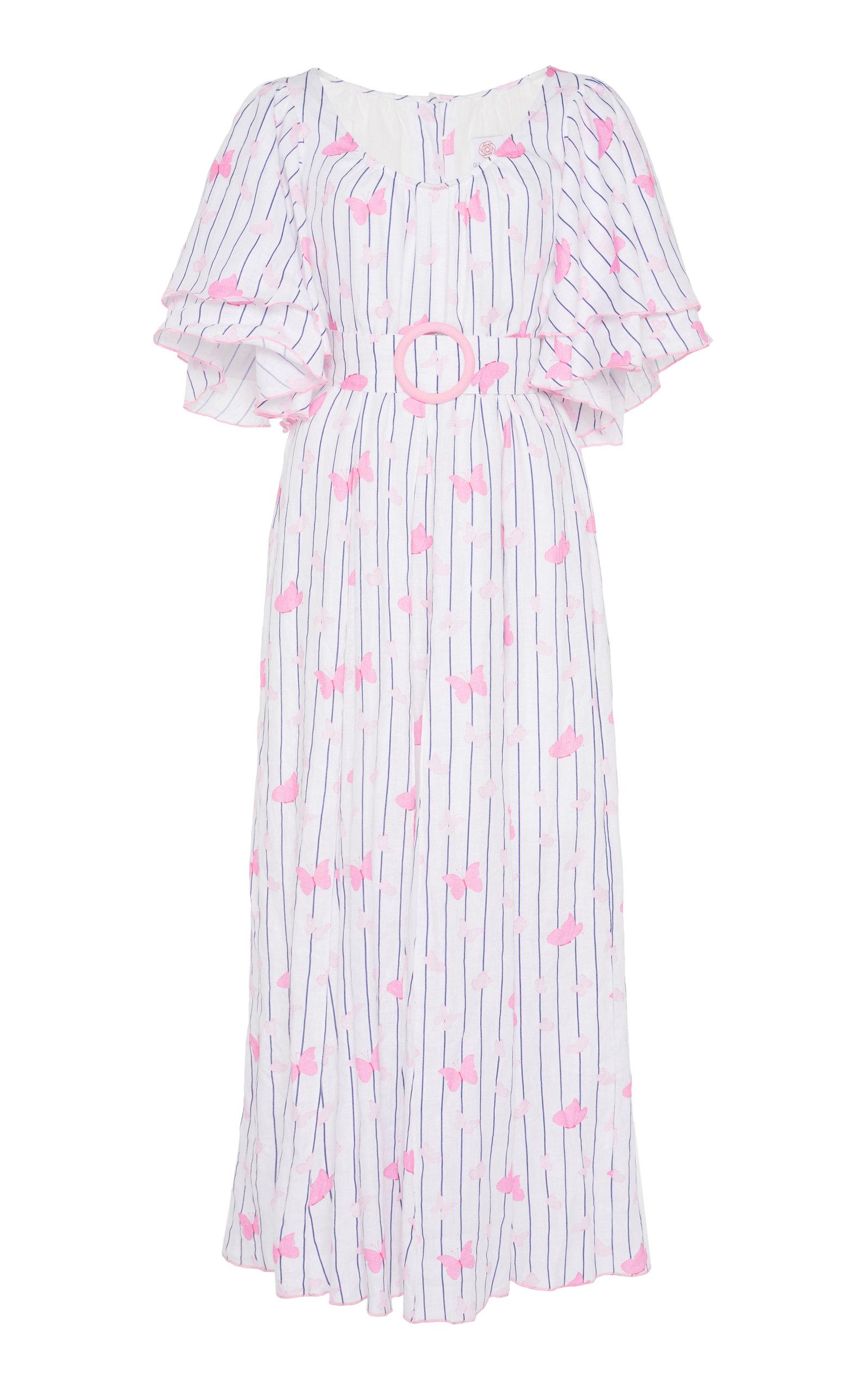Buy Gül Hürgel Belted Printed Linen Maxi Dress online, shop Gül Hürgel at the best price