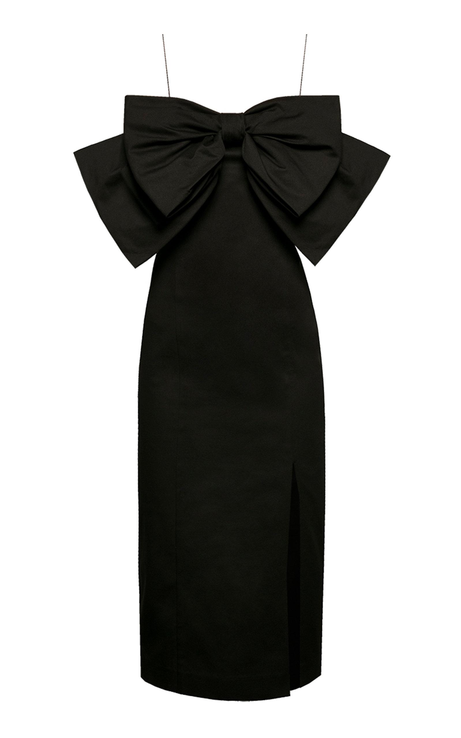Buy Anna October Crème De La Crème Bow-Embellished Satin Dress online, shop Anna October at the best price