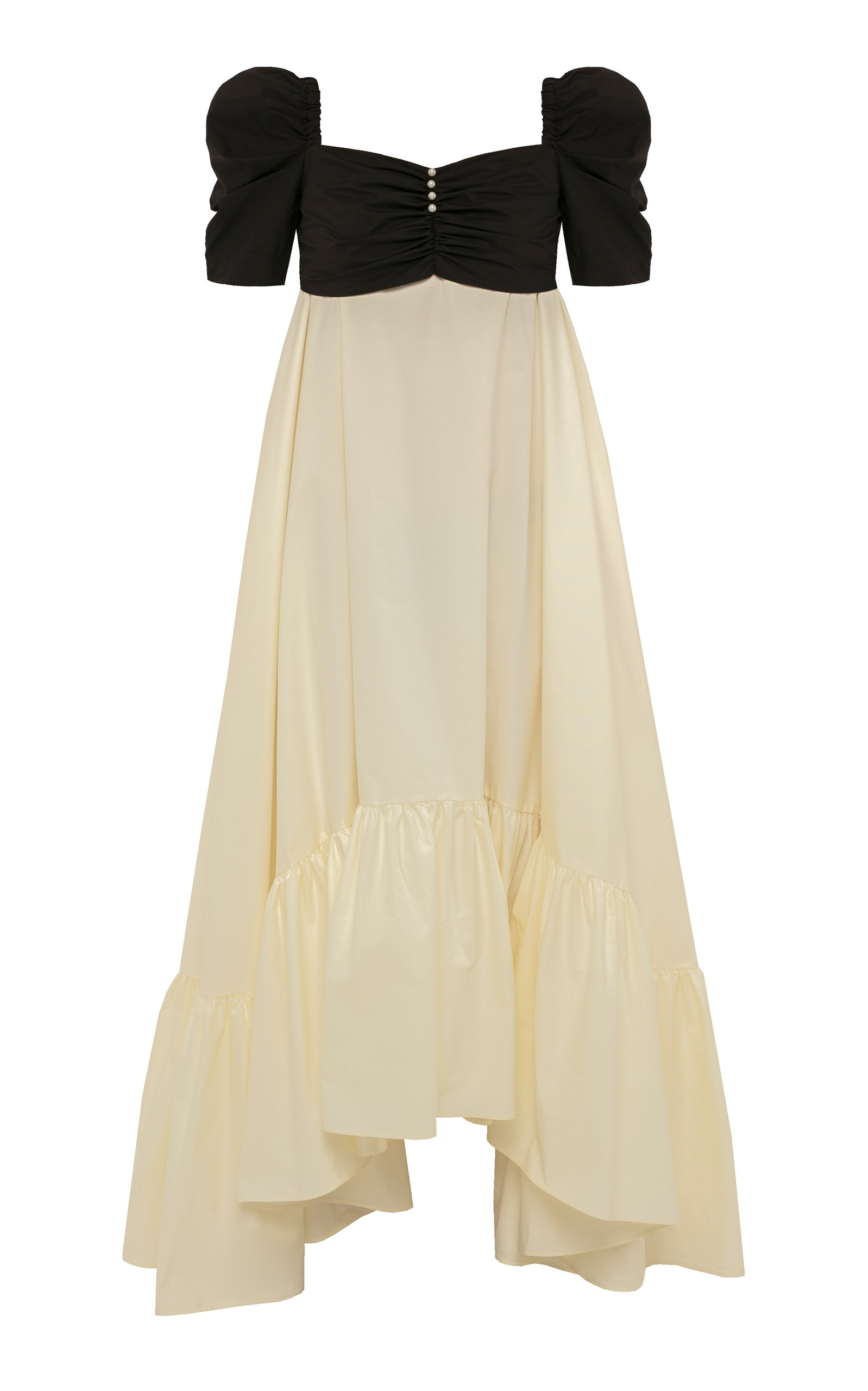 Buy Anna October Juliette Two-Tone Cotton-Blend Midi Dress online, shop Anna October at the best price