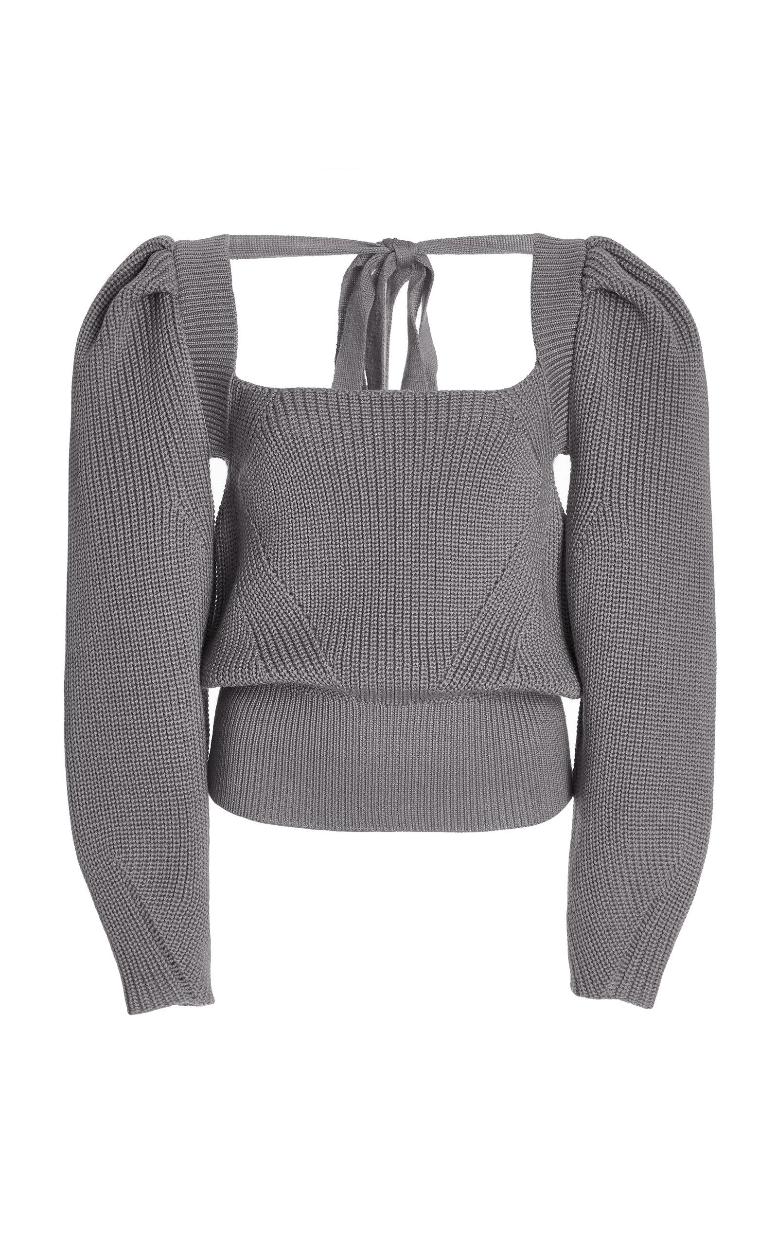 Women's Rachel Tie-Accented Wool-Blend Sweater