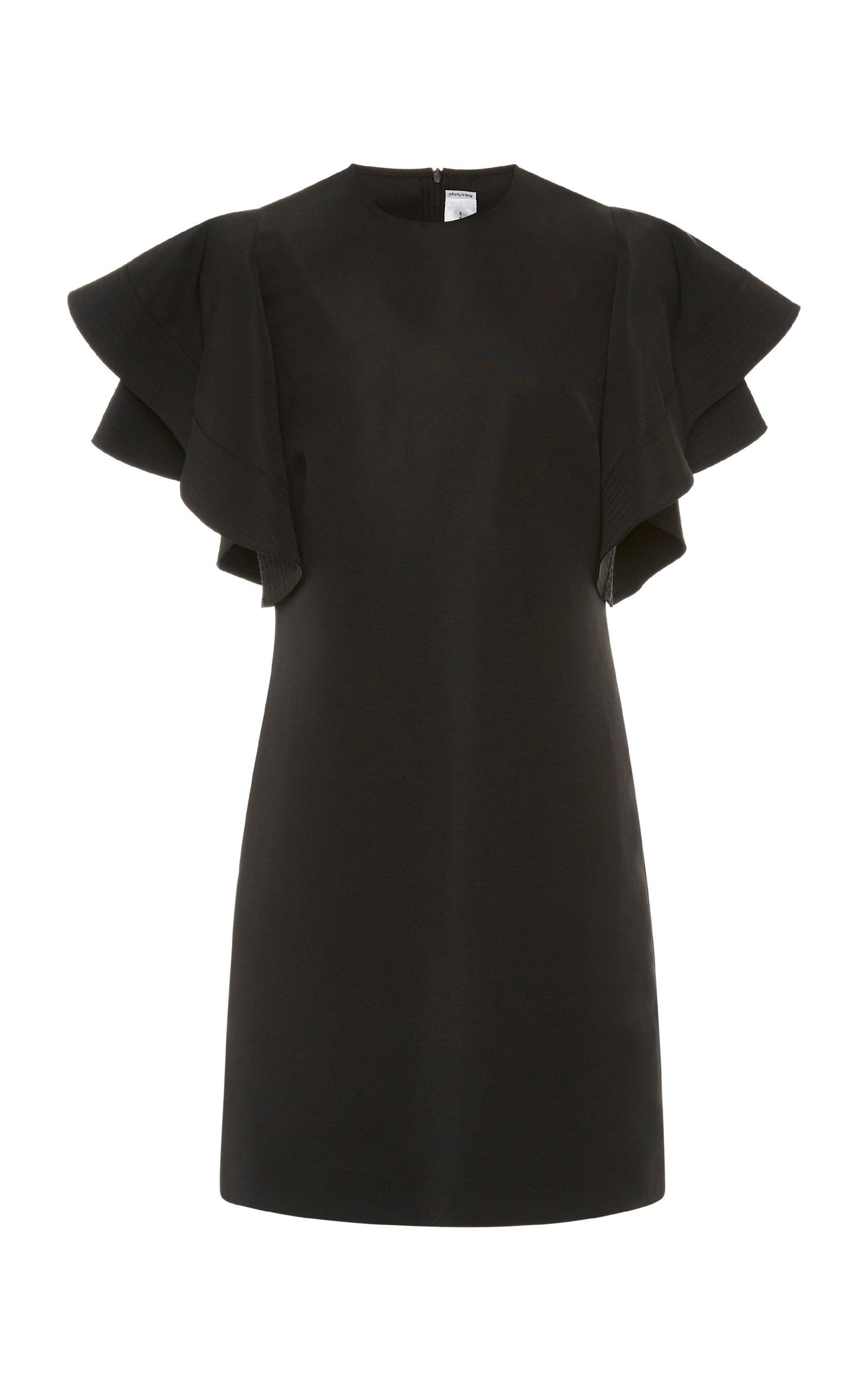 Buy Victoria Victoria Beckham Ruffled Faille Mini Dress online, shop Victoria Victoria Beckham at the best price
