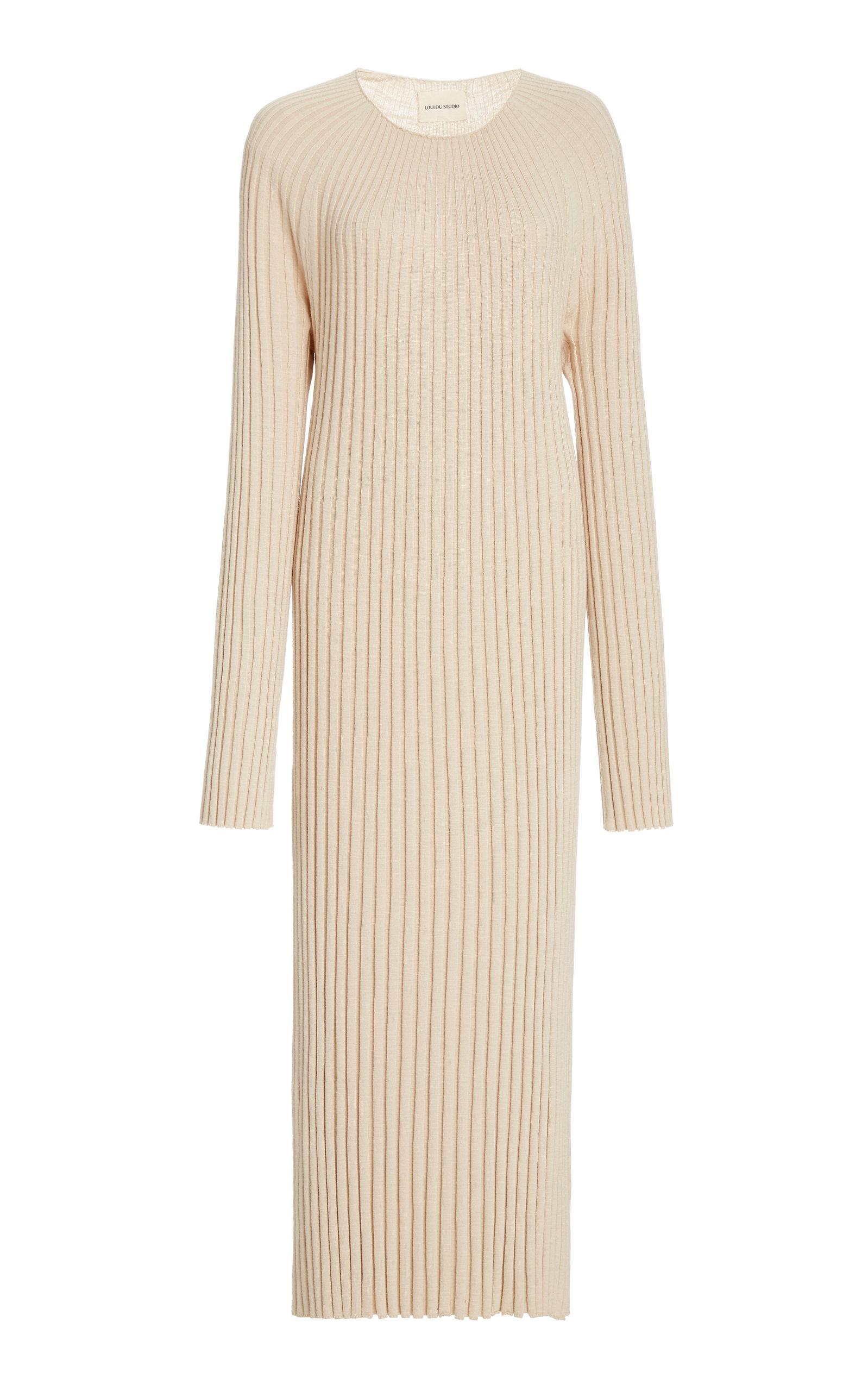 Buy Loulou Studio Uturoa Ribbed Silk-Blend Maxi Dress online, shop Loulou Studio at the best price