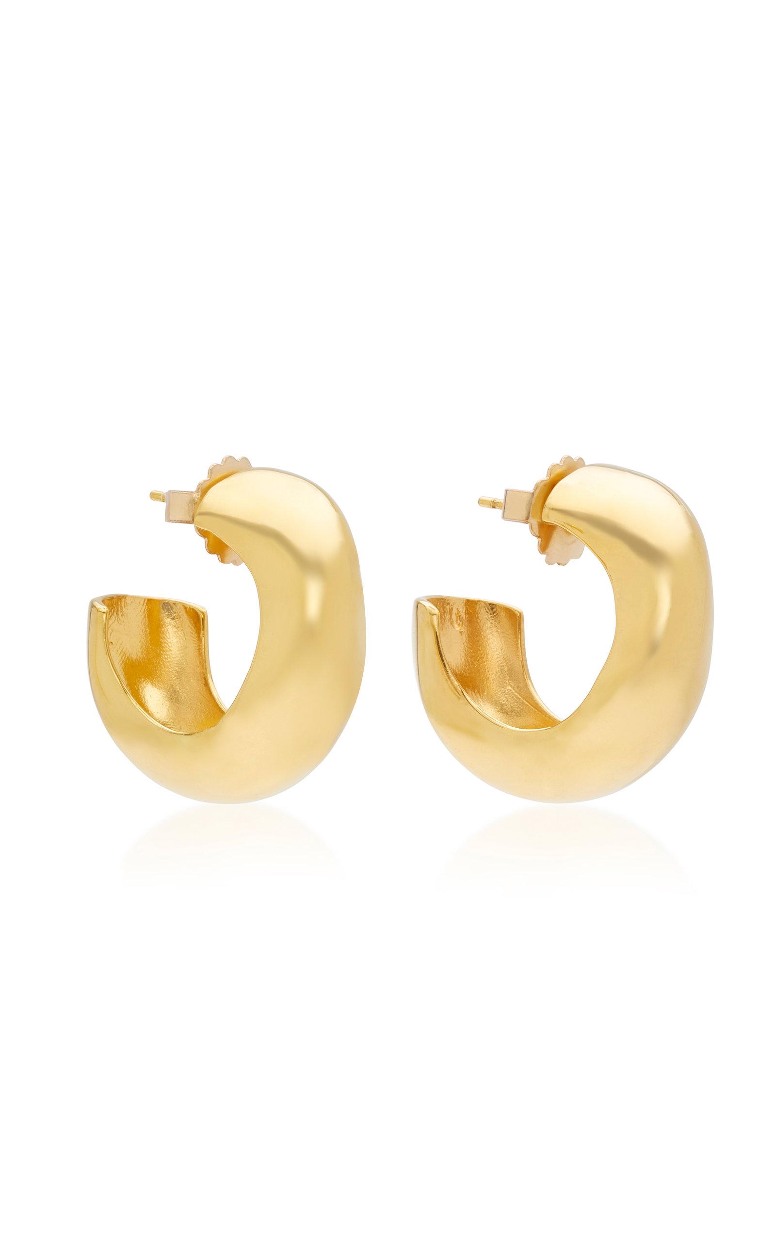 Women's Celia Medium Gold Vermeil Hoops